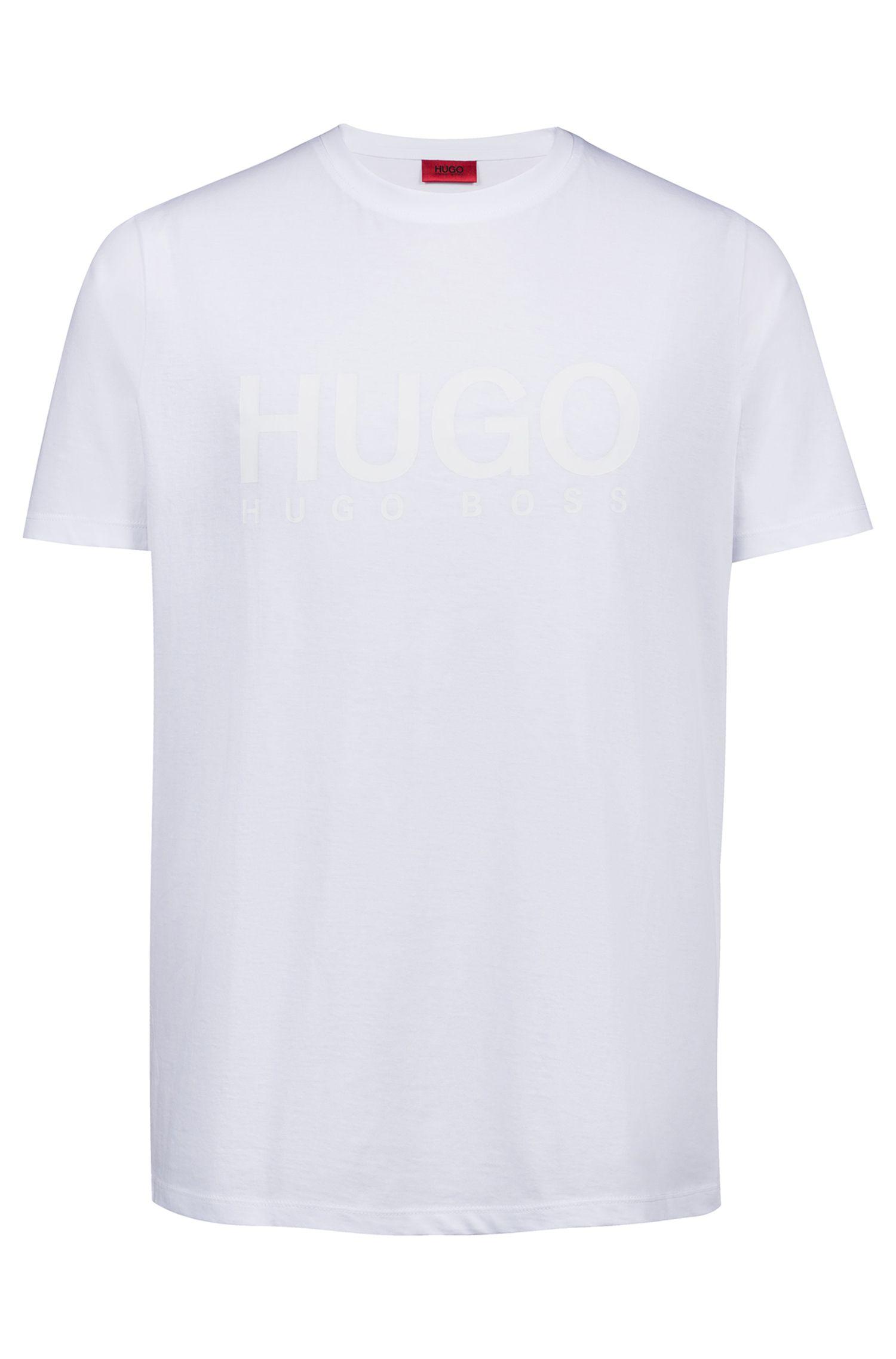 Logo-T-shirt van katoenen singlejersey, Wit
