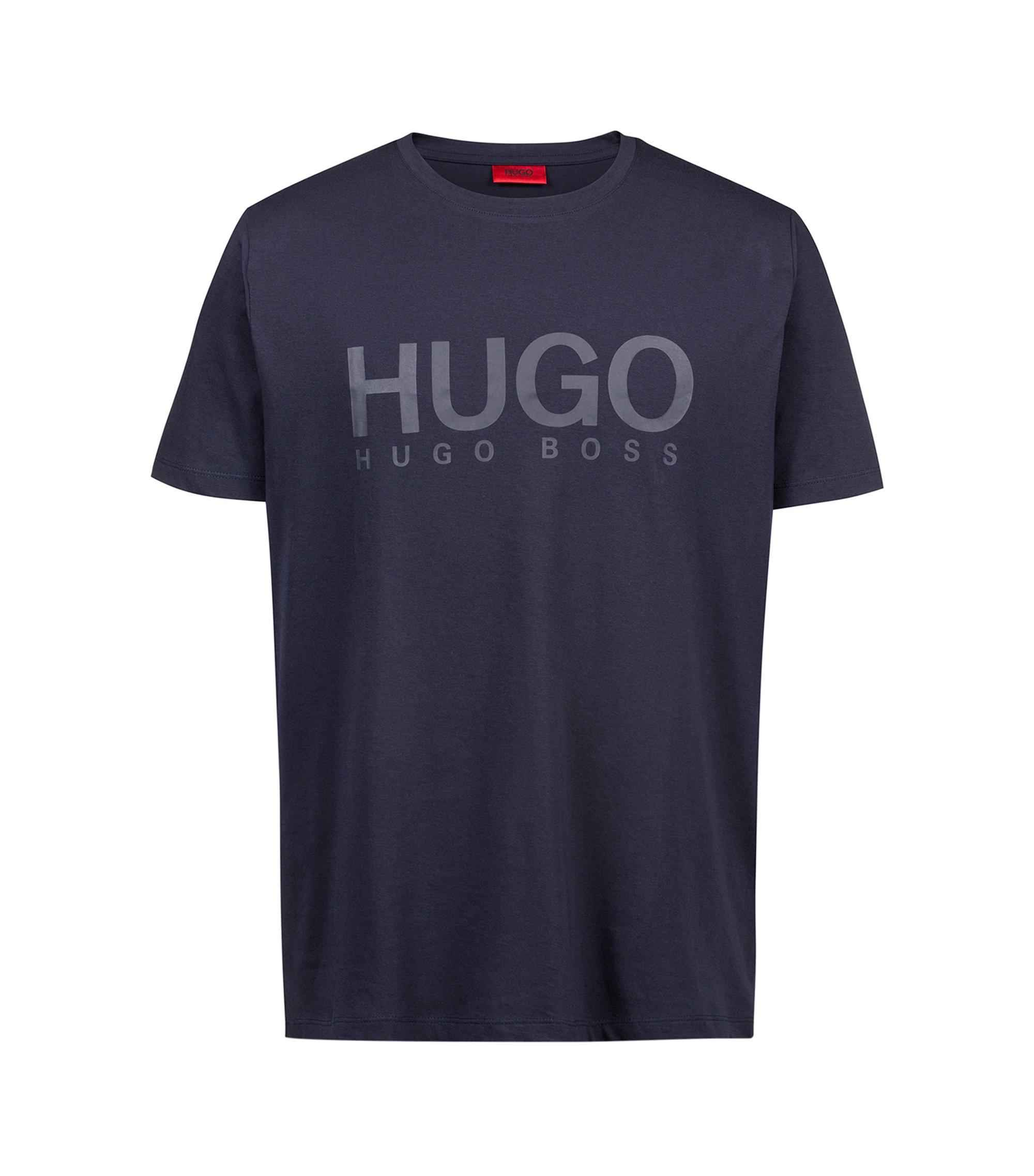 Logo T-shirt in single jersey cotton, Dark Blue
