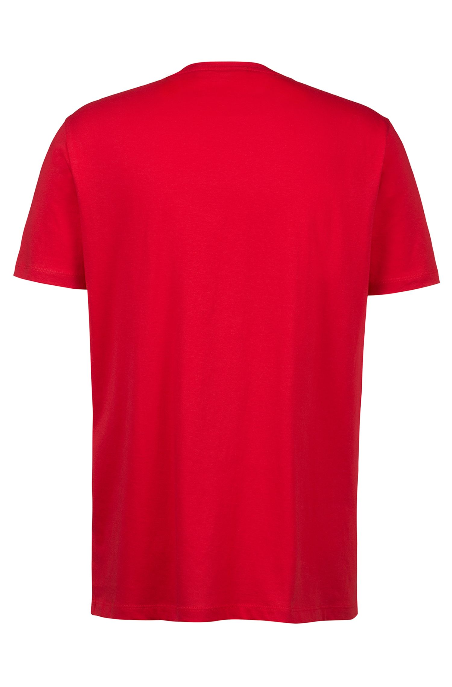 Logo T-shirt in single jersey cotton, Red