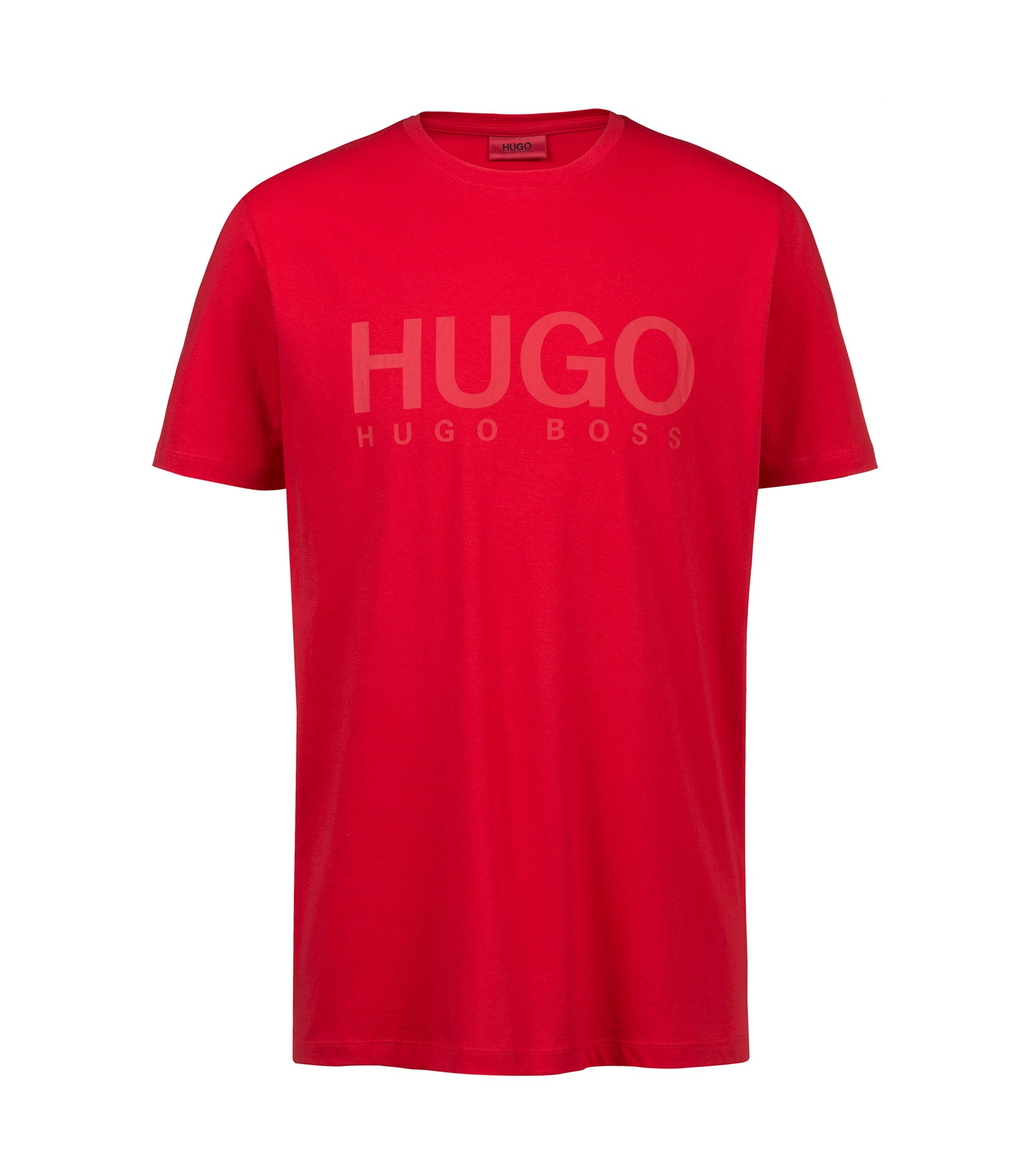 T-Shirt aus Single Jersey mit Logo, Rot