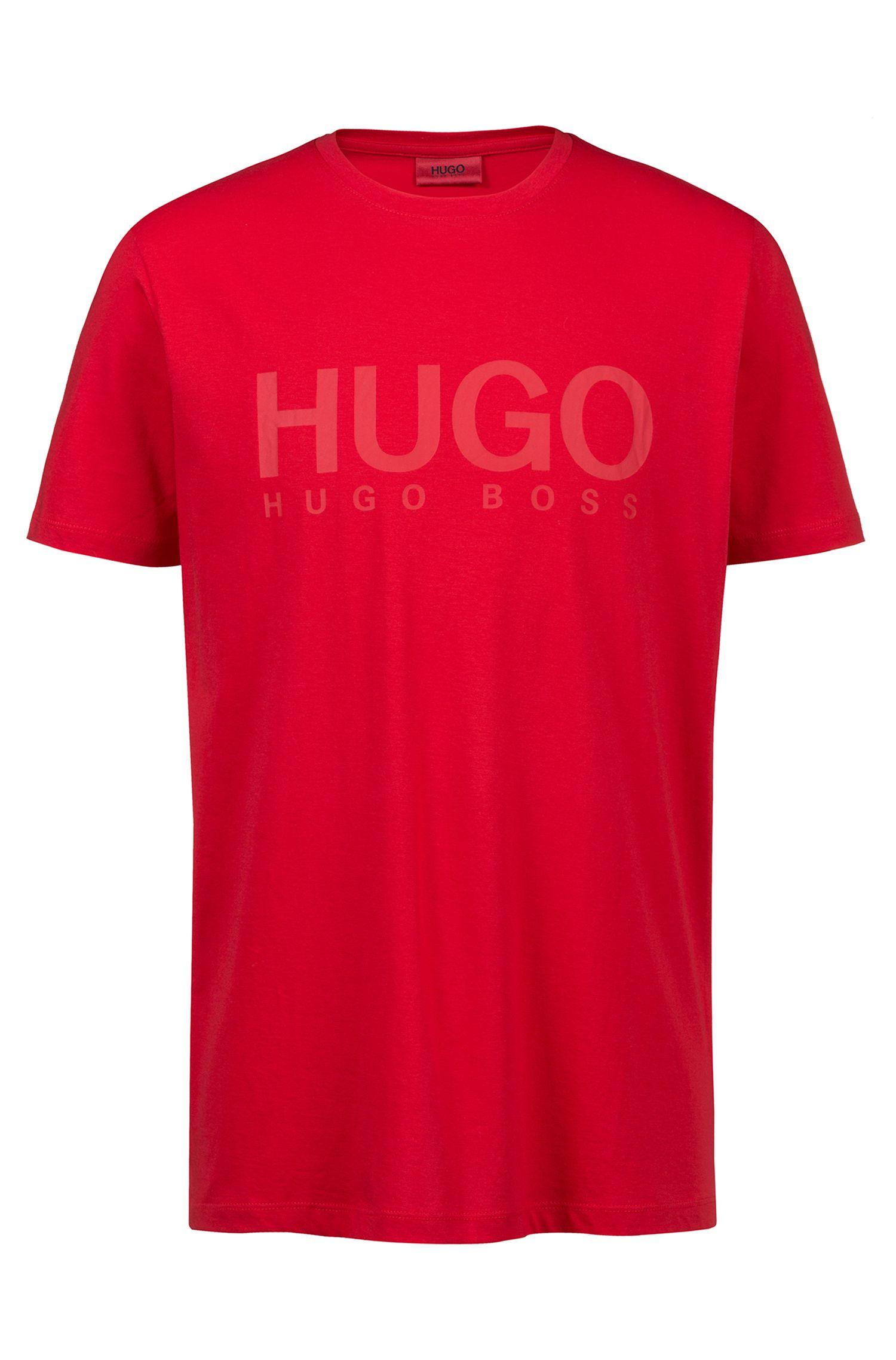 Logo-T-shirt van katoenen singlejersey, Rood