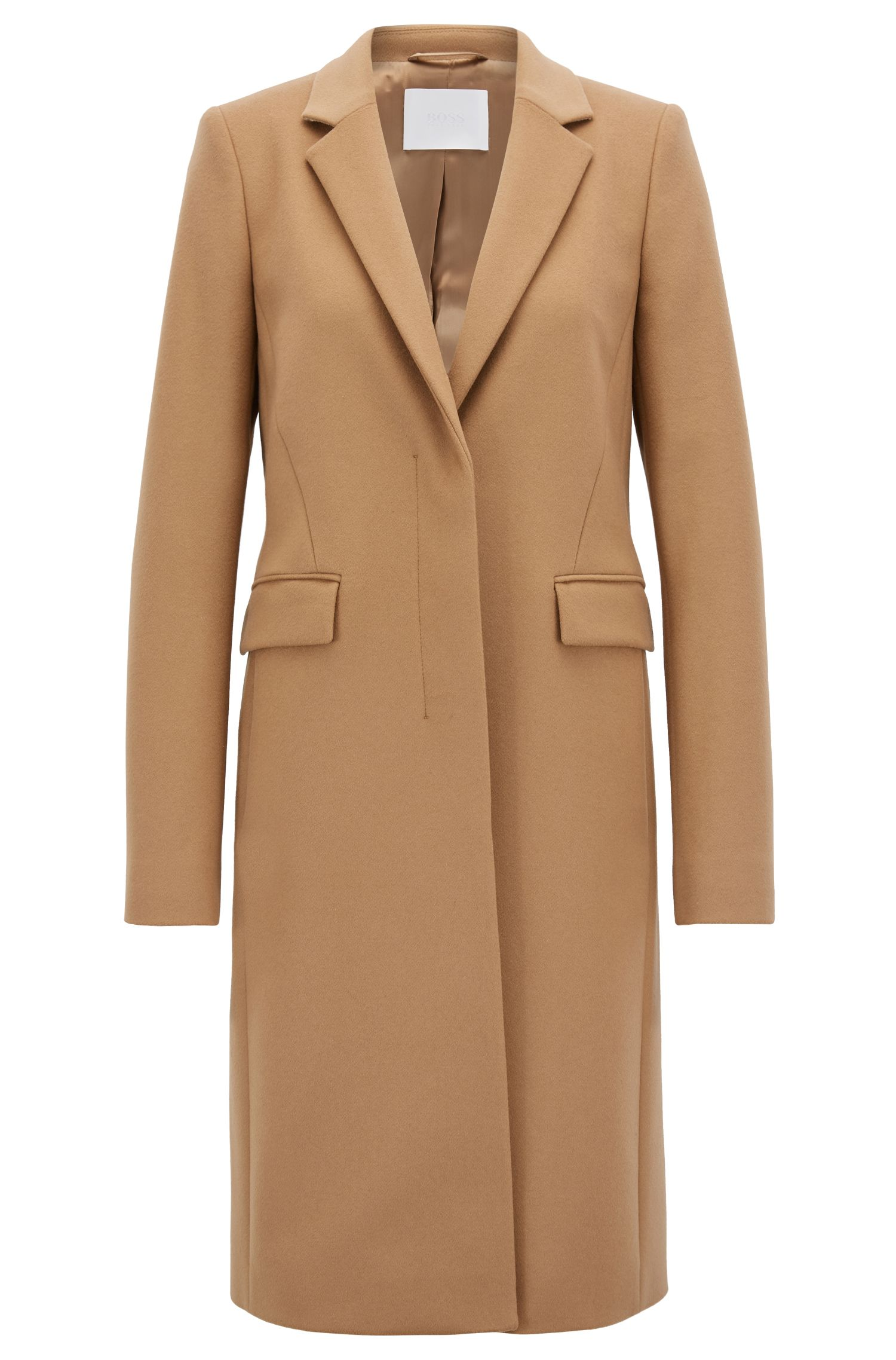 Blazer-style coat in Italian virgin wool and cashmere