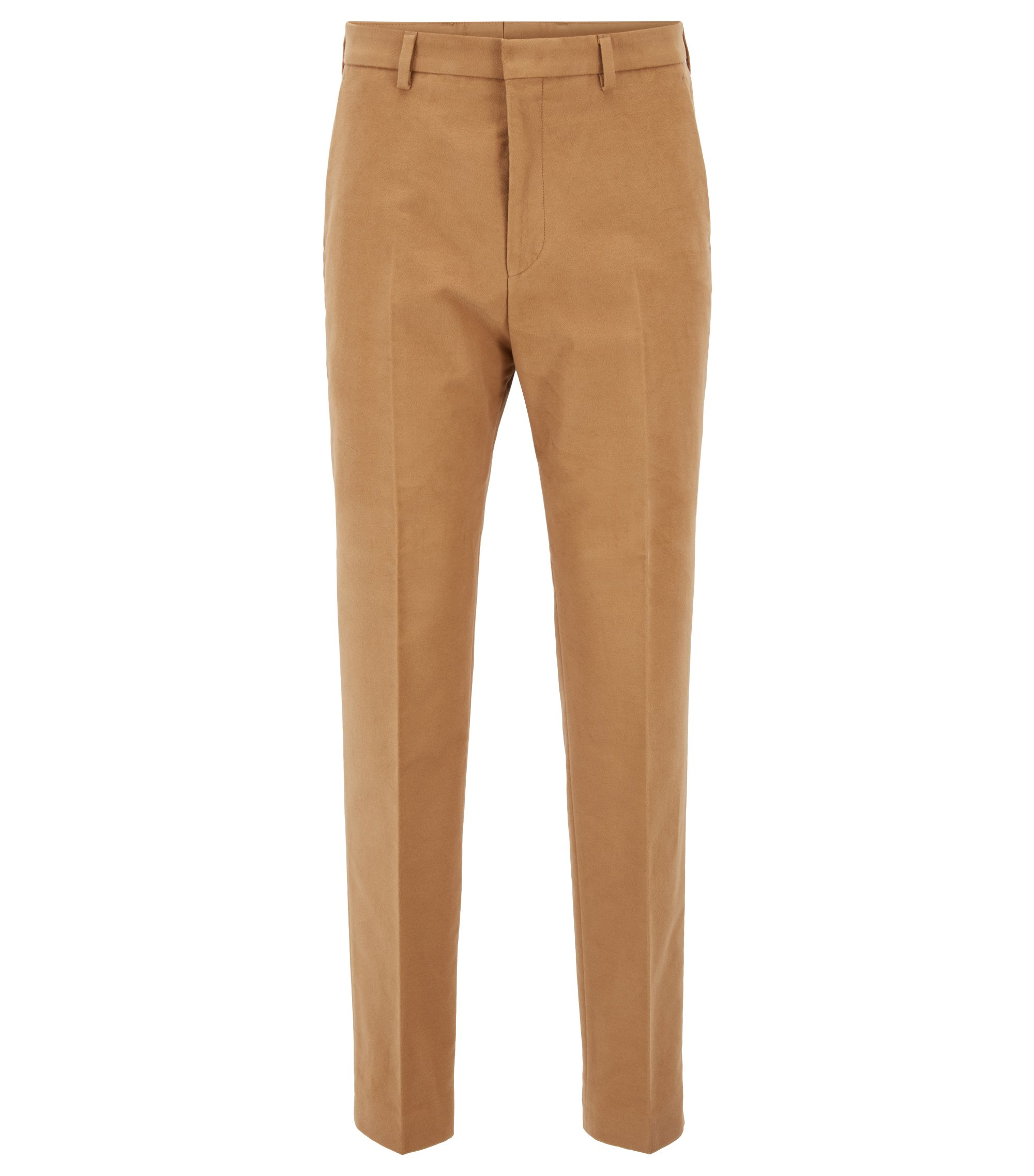 Pantalon Slim Fit raccourci en coton stretch, Kaki