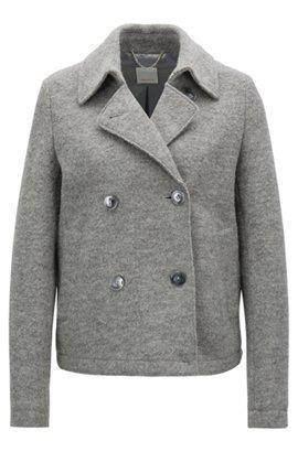 0ded22f5031 Regular-Fit Mantel aus Schurwolle mit abnehmbarem Riemen