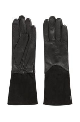 Langere handschoenen van lamsleer met Touch Tech-vingertoppen