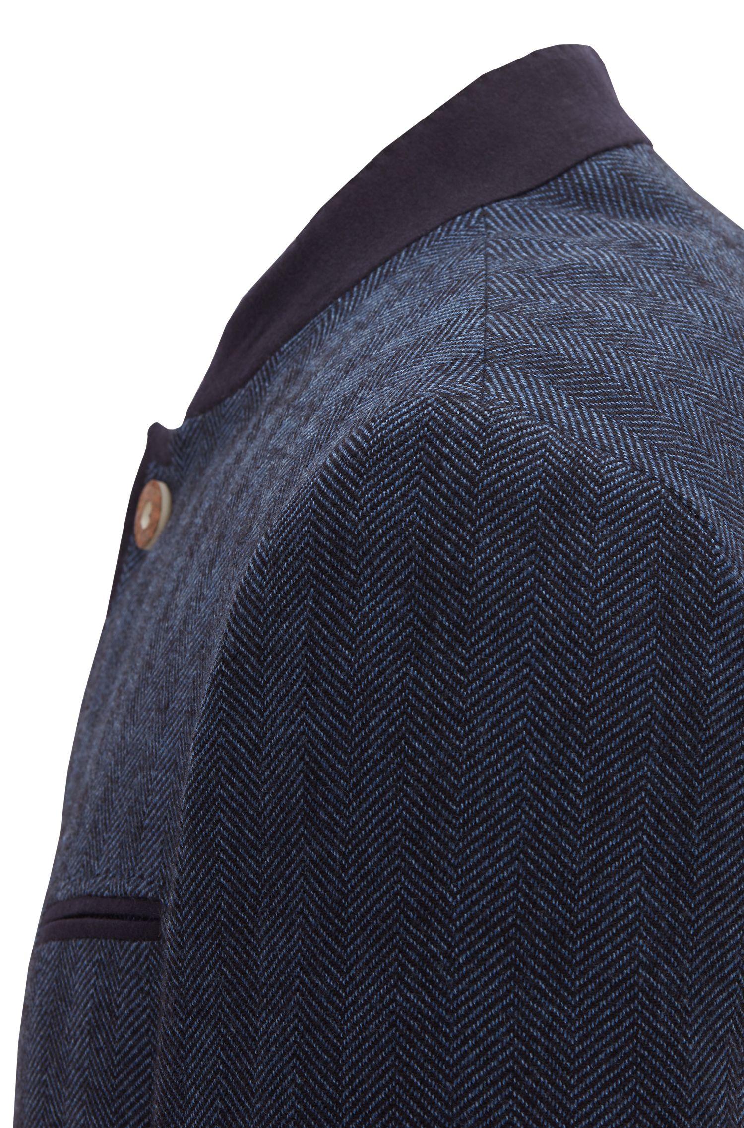 Slim-Fit Sakko aus Schurwoll-Mix mit Baumwolle