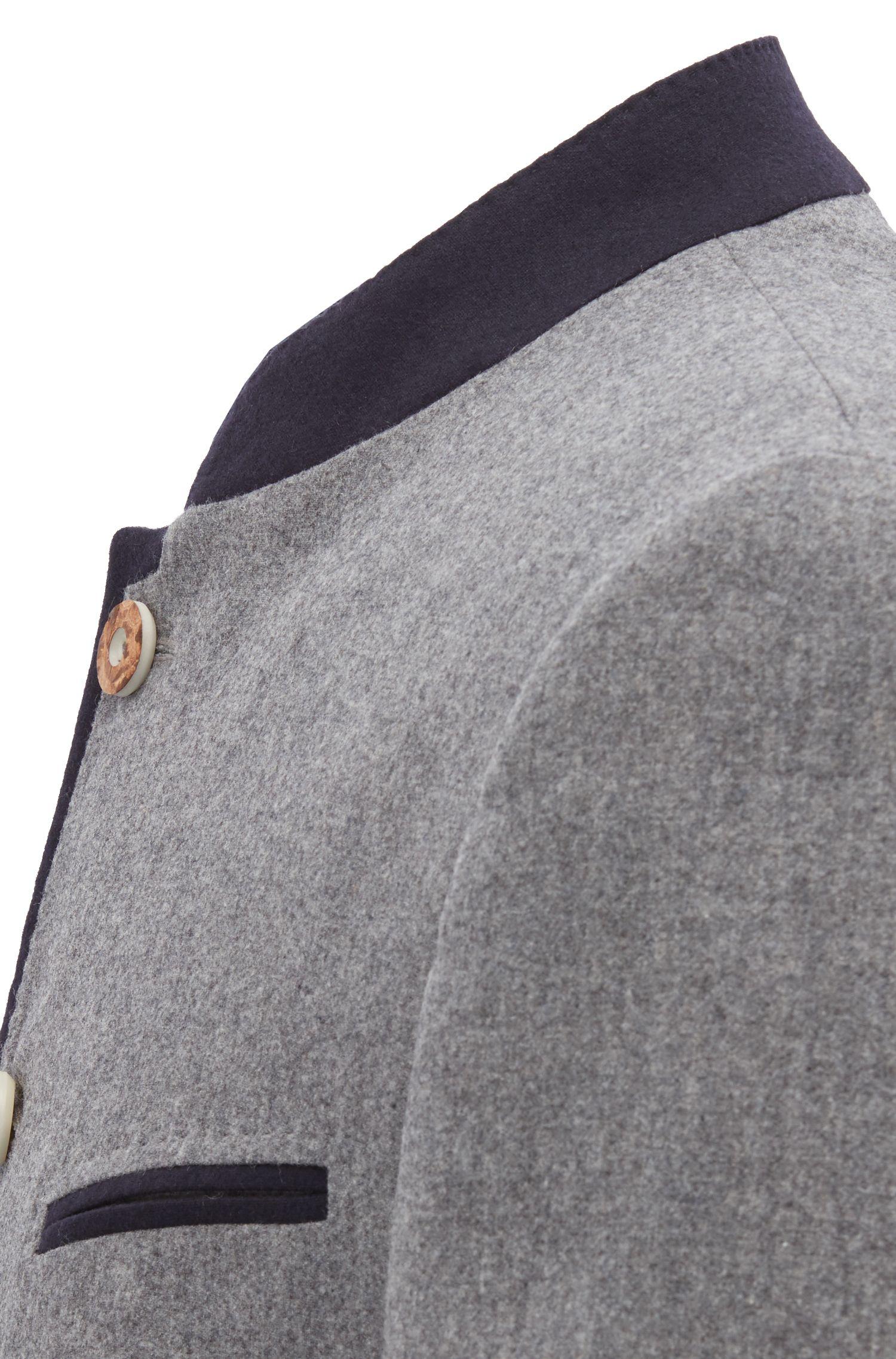 Blazer estilo bávaro en mezcla de lana virgen, Gris