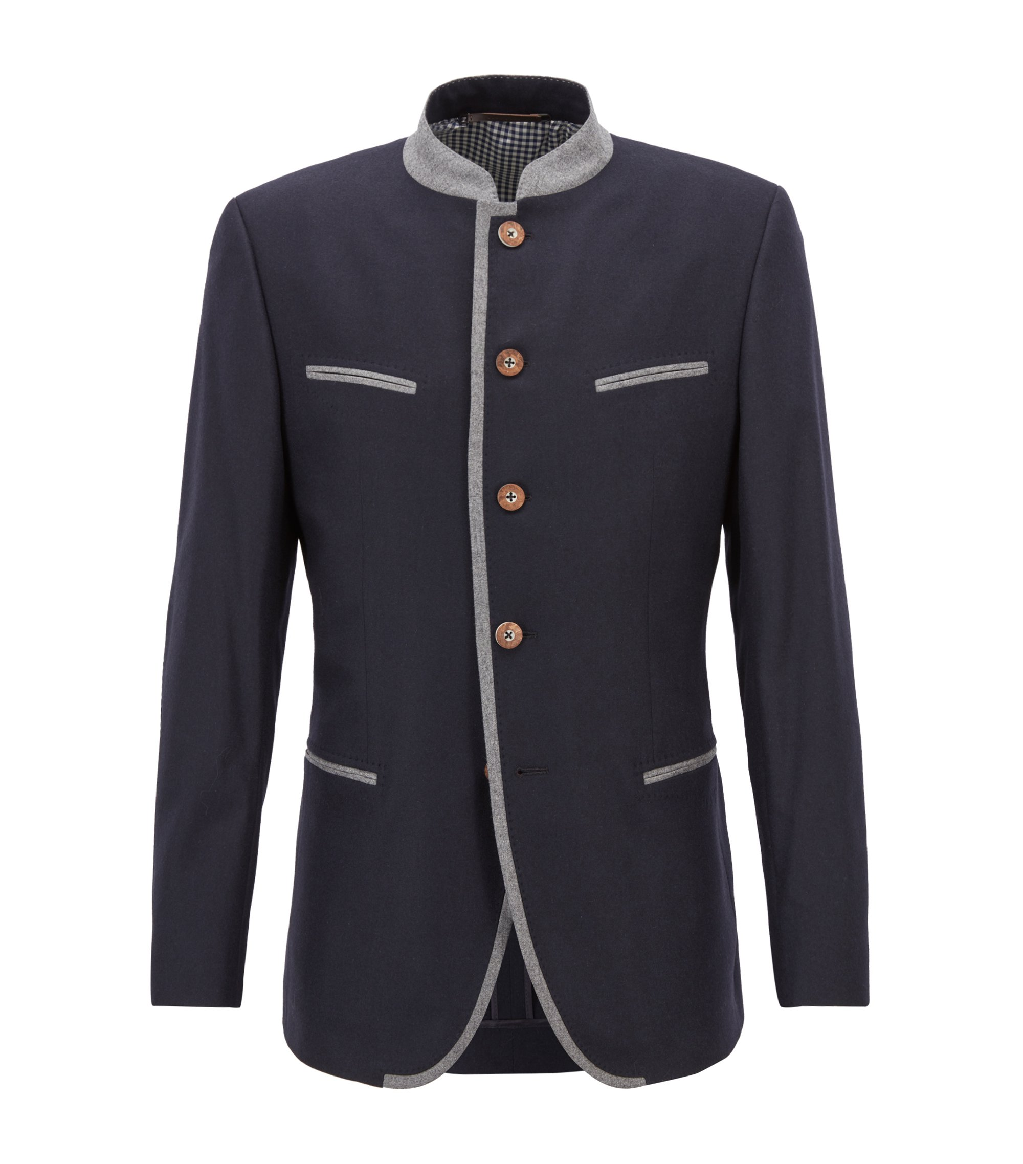 Oktoberfest-style blazer in a virgin-wool blend, Blue