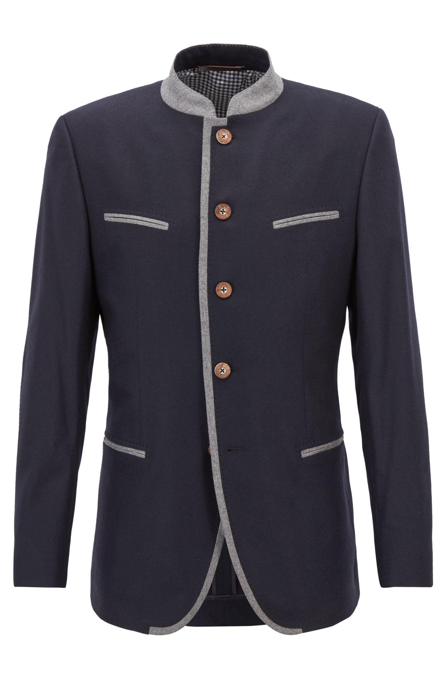 Oktoberfest-style blazer in a virgin-wool blend, Blue