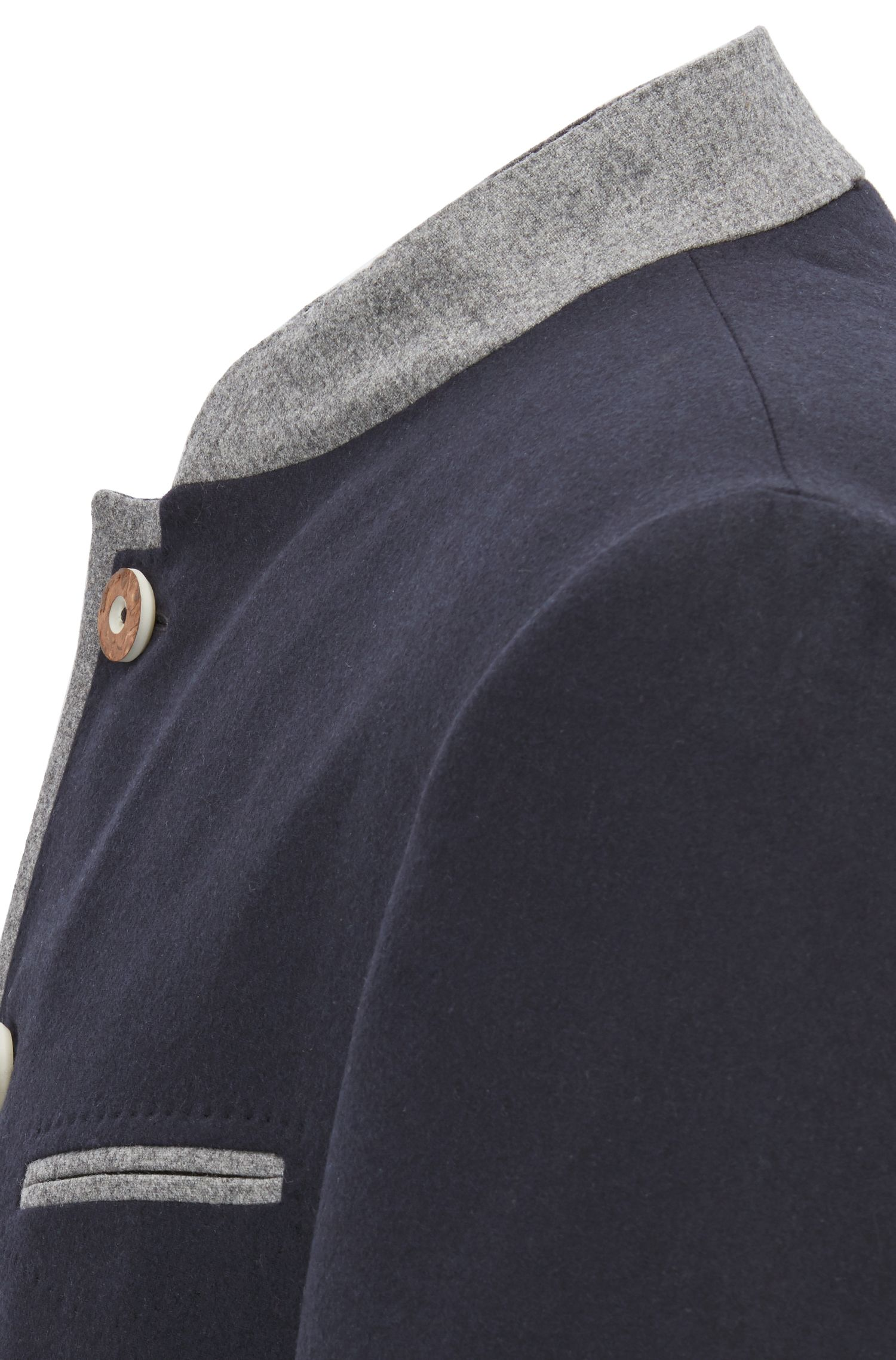 Oktoberfest-style blazer in a virgin-wool blend