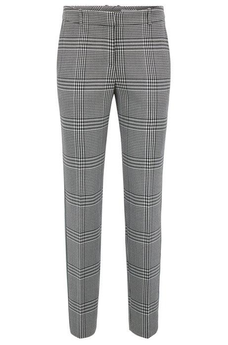 Pantalones Cónicos En Tela Glen-cheque Con La Protuberancia Taping Rayado Venta confiable yY5bT