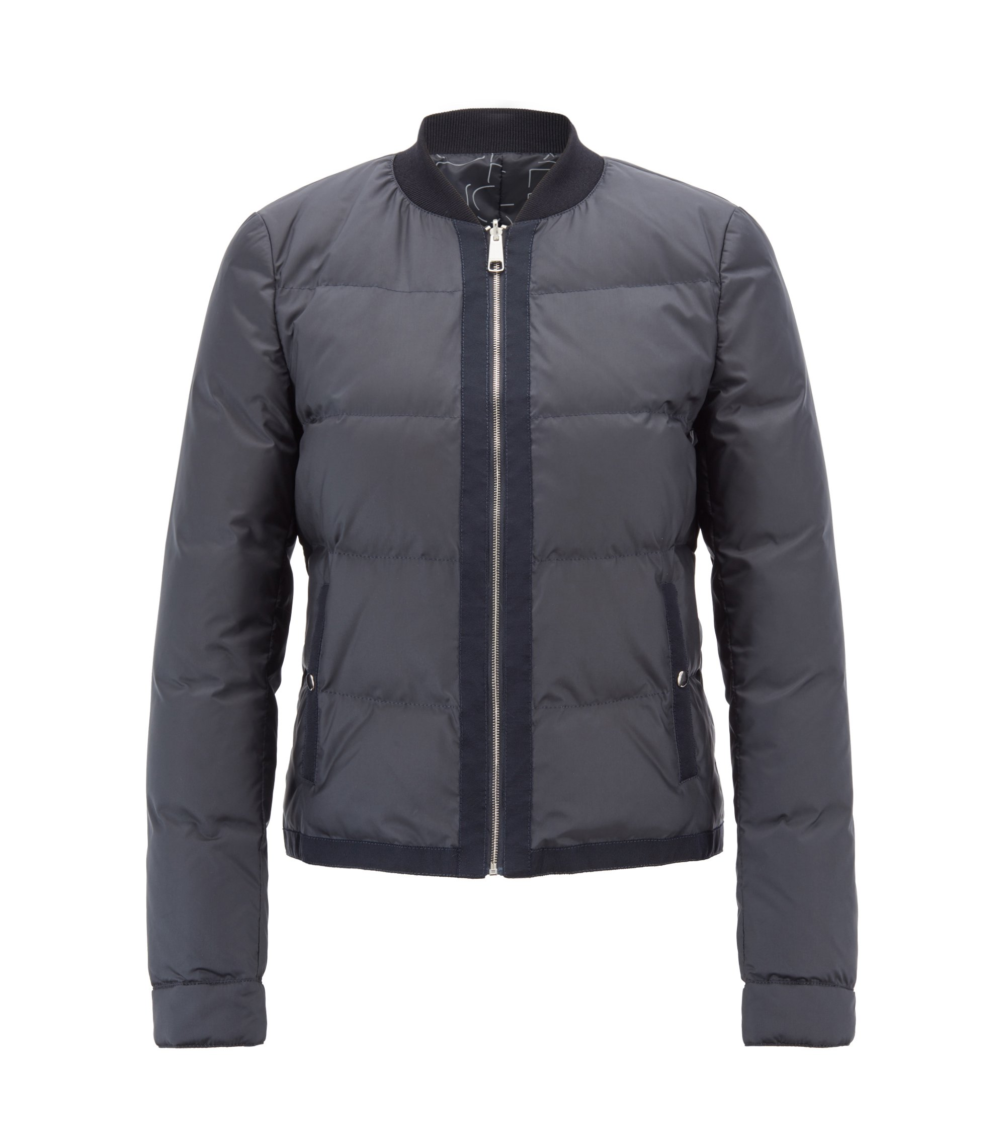 Down-filled bomber jacket with water-repellent outer, Dark Blue