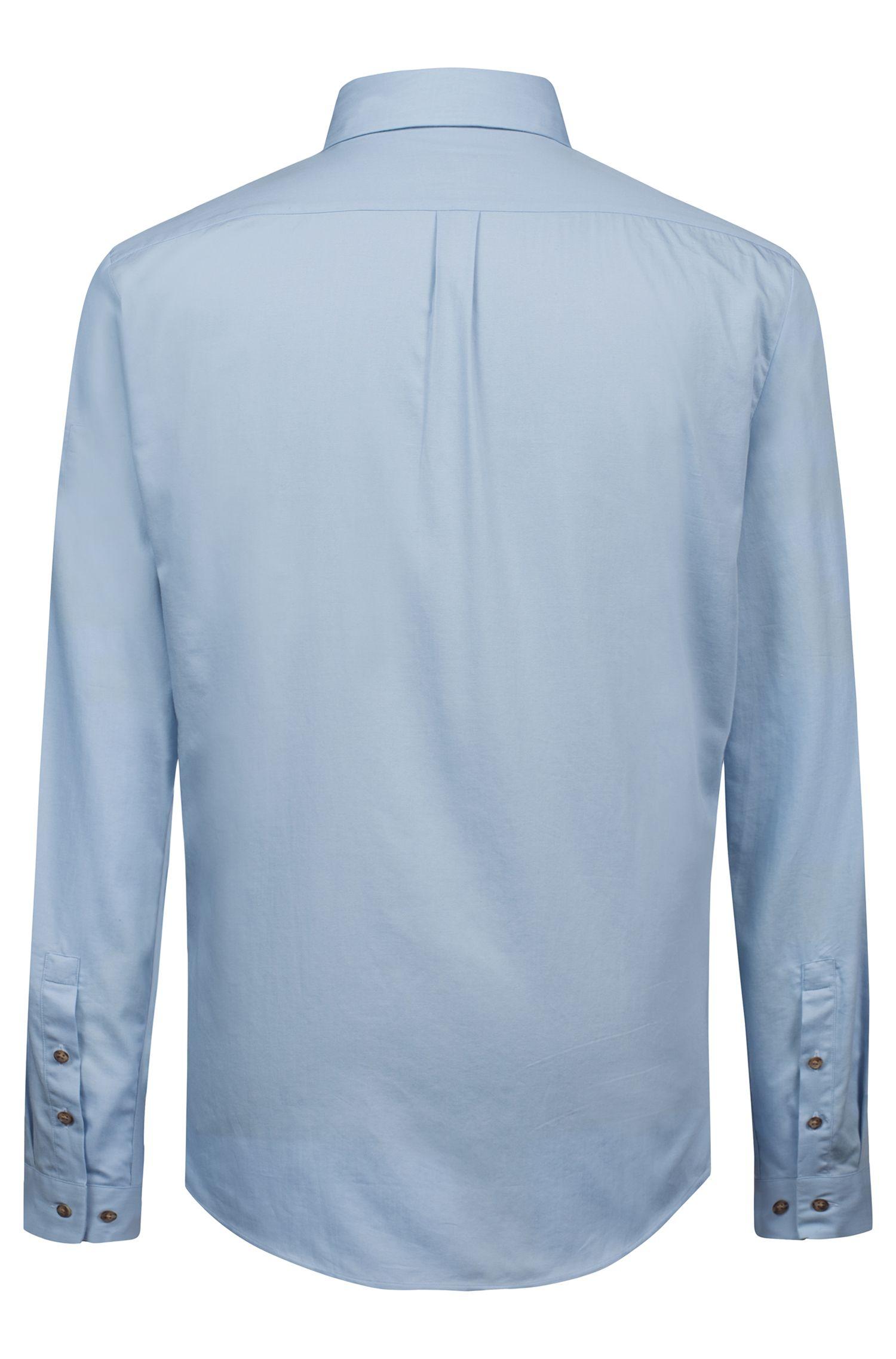 Extra Slim-Fit Hemd aus Baumwolle im Denim-Look, Hellblau