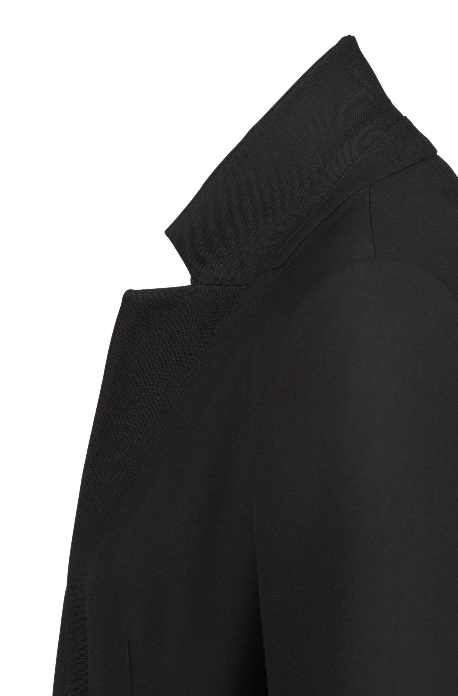 Veste Regular Fit avec ceinture à œillets métalliques, Noir