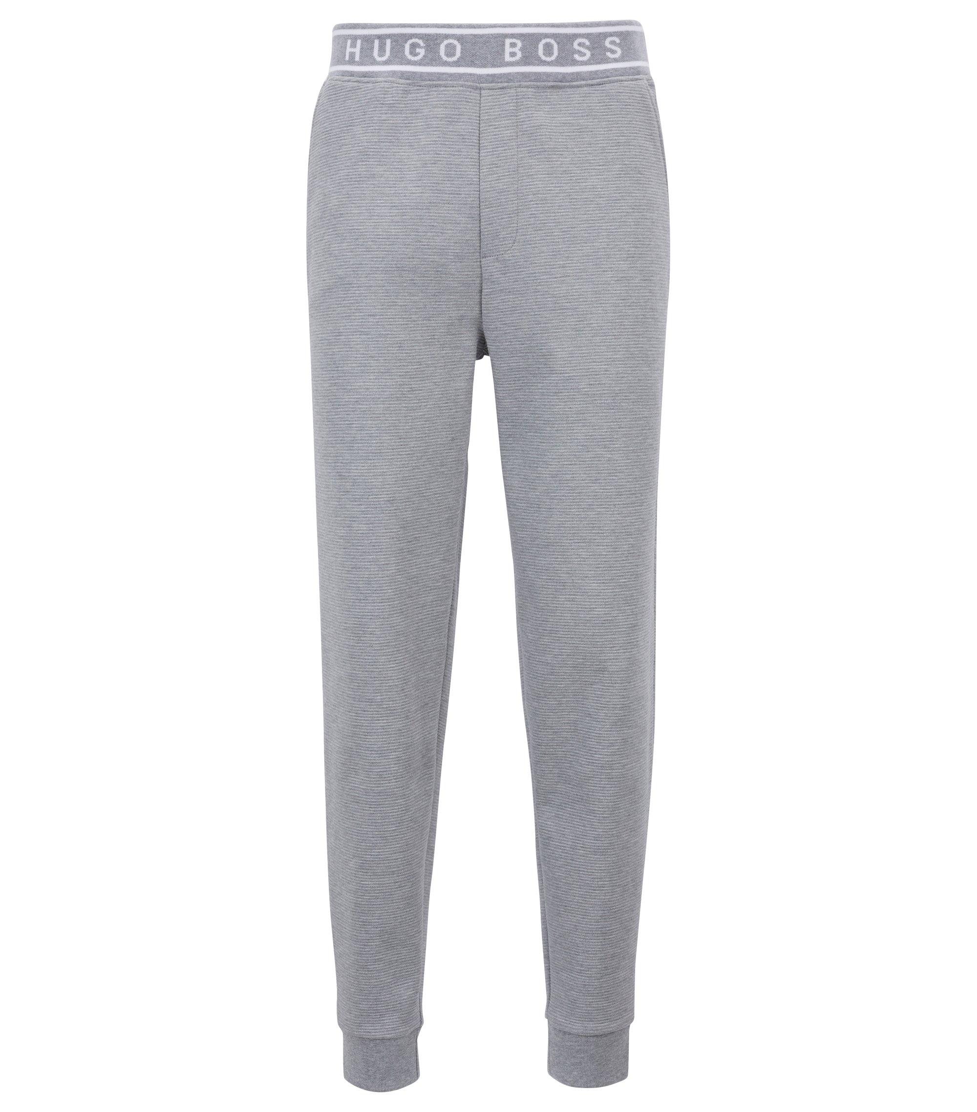 Pantalon d'intérieur en coton interlock resserré au bas des jambes, Gris