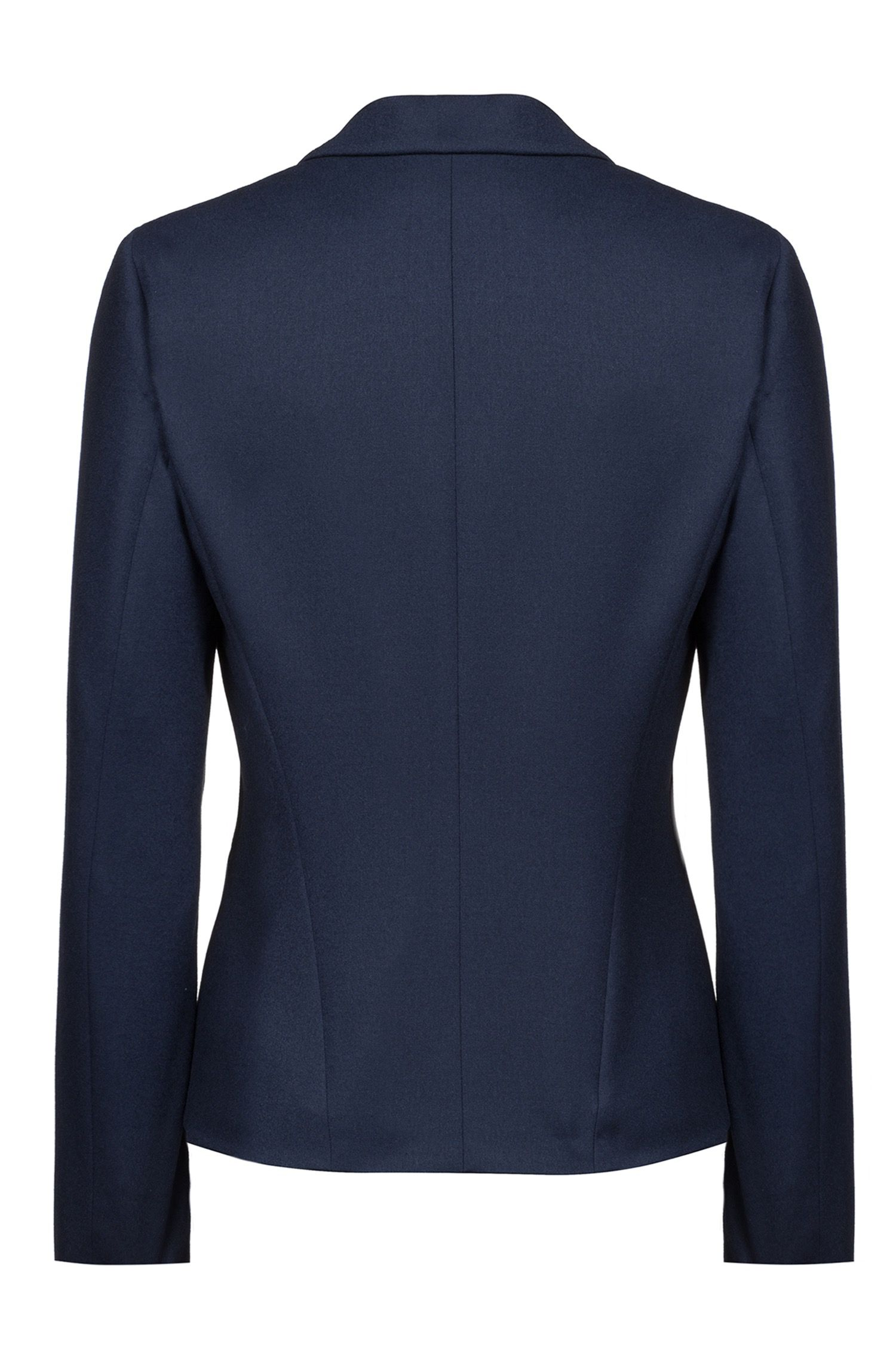 Blazer Regular Fit en flanelle de laine vierge stretch