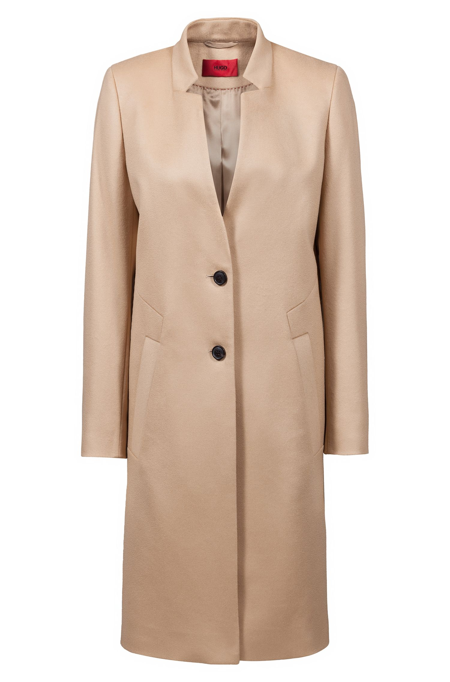 Regular-fit coat in virgin wool and cashmere