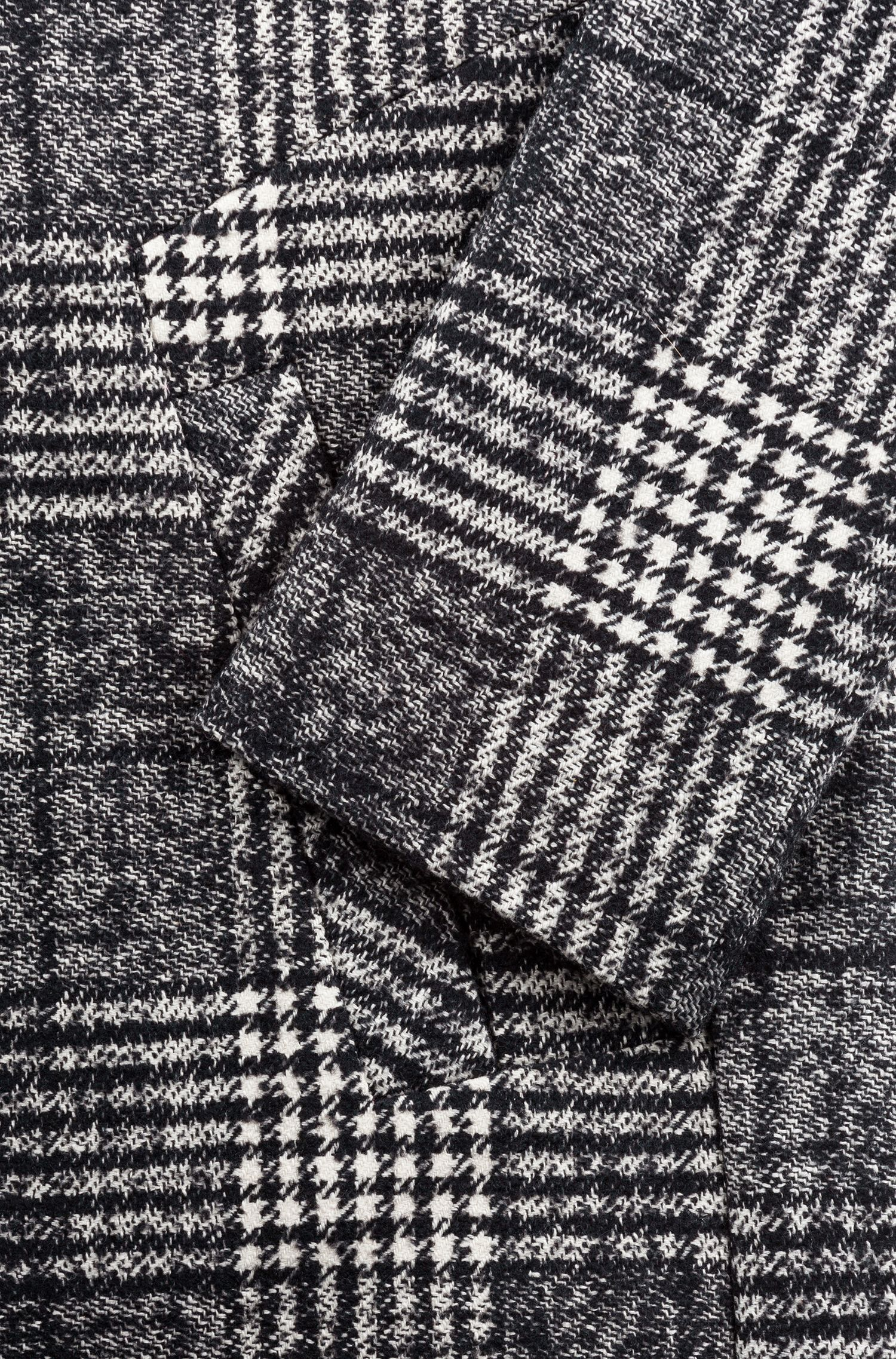 Relaxed-Fit Mantel mit monochromem Glencheck-Muster, Gemustert