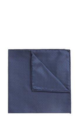 Italian-made silk pocket square with plain check BOSS 3J8wgA