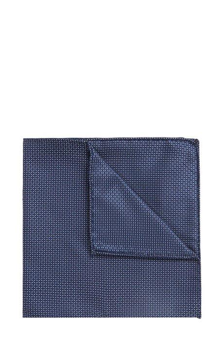 Patterned pocket square in silk jacquard BOSS 678pz