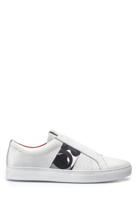 Slip-on trainers in calf leather with elastic trim HUGO BOSS Nk5wqV