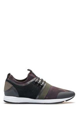 bd1d307bea3b6 Sneakers ibride con calzino in neoprene con stampa camouflage