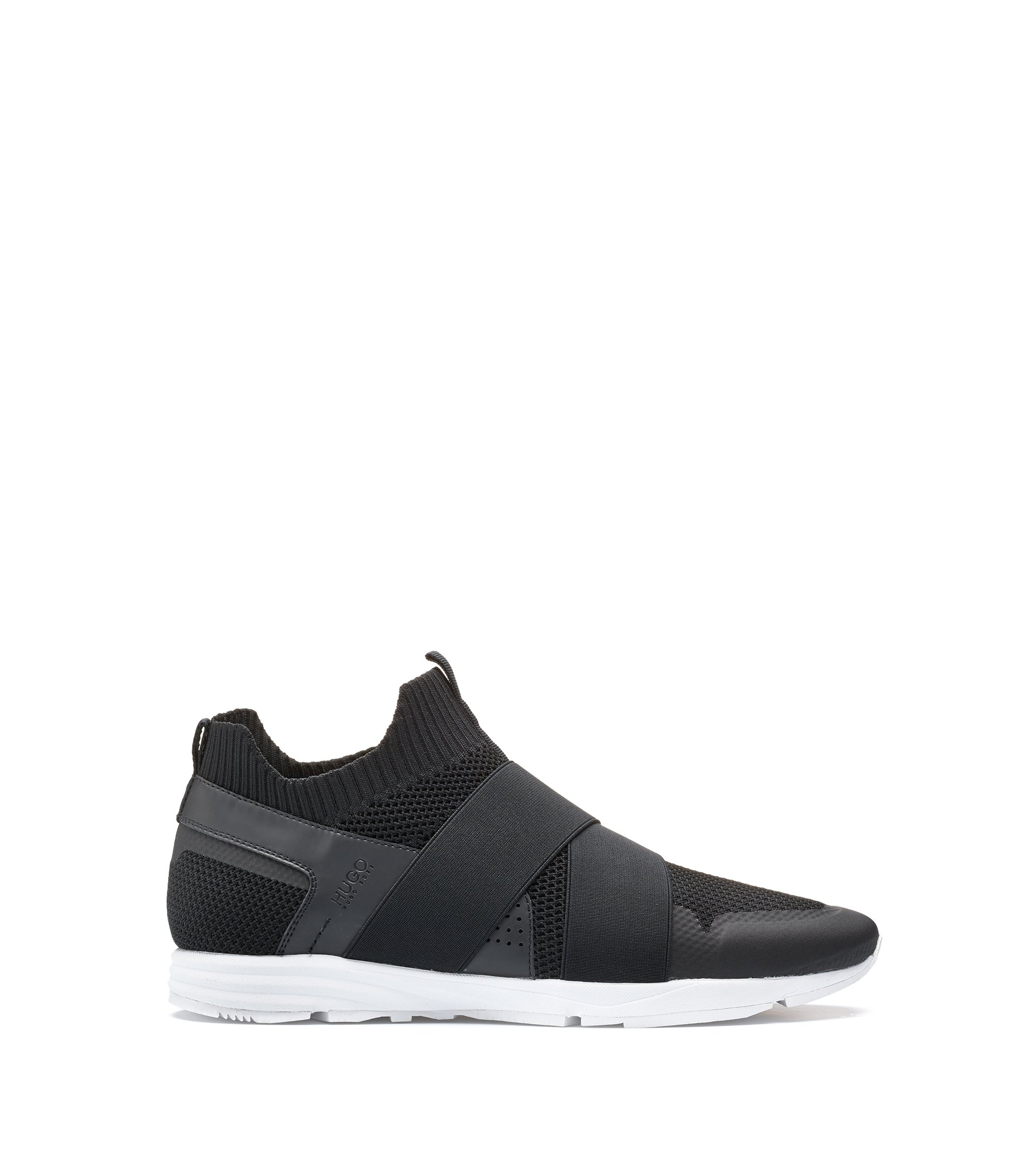 Slip-on hybrid trainers with Vibram sole, Black