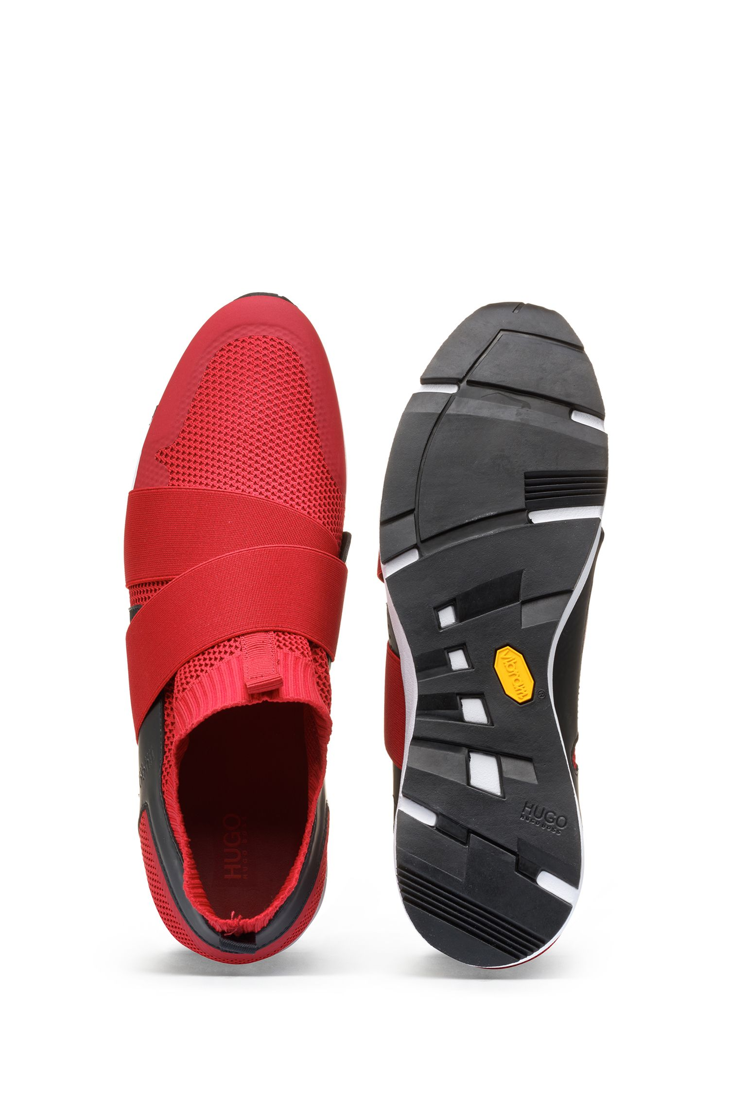 Slip-on hybrid trainers with Vibram sole, Dark Red
