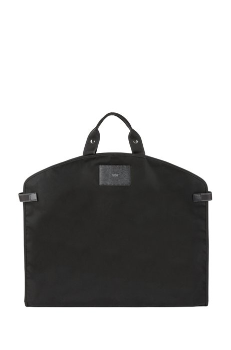 HUGO BOSS Nylon garment bag with Italian calf-leather trims Discount Best Prices Cheap Sale Best Seller Cheap Sale From China Classic Cheap Price NuTBsPqCP