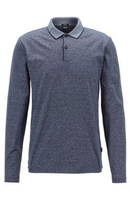 6b03e0d61 HUGO BOSS Long-Sleeved Polo Shirts for Men | Slim Fit