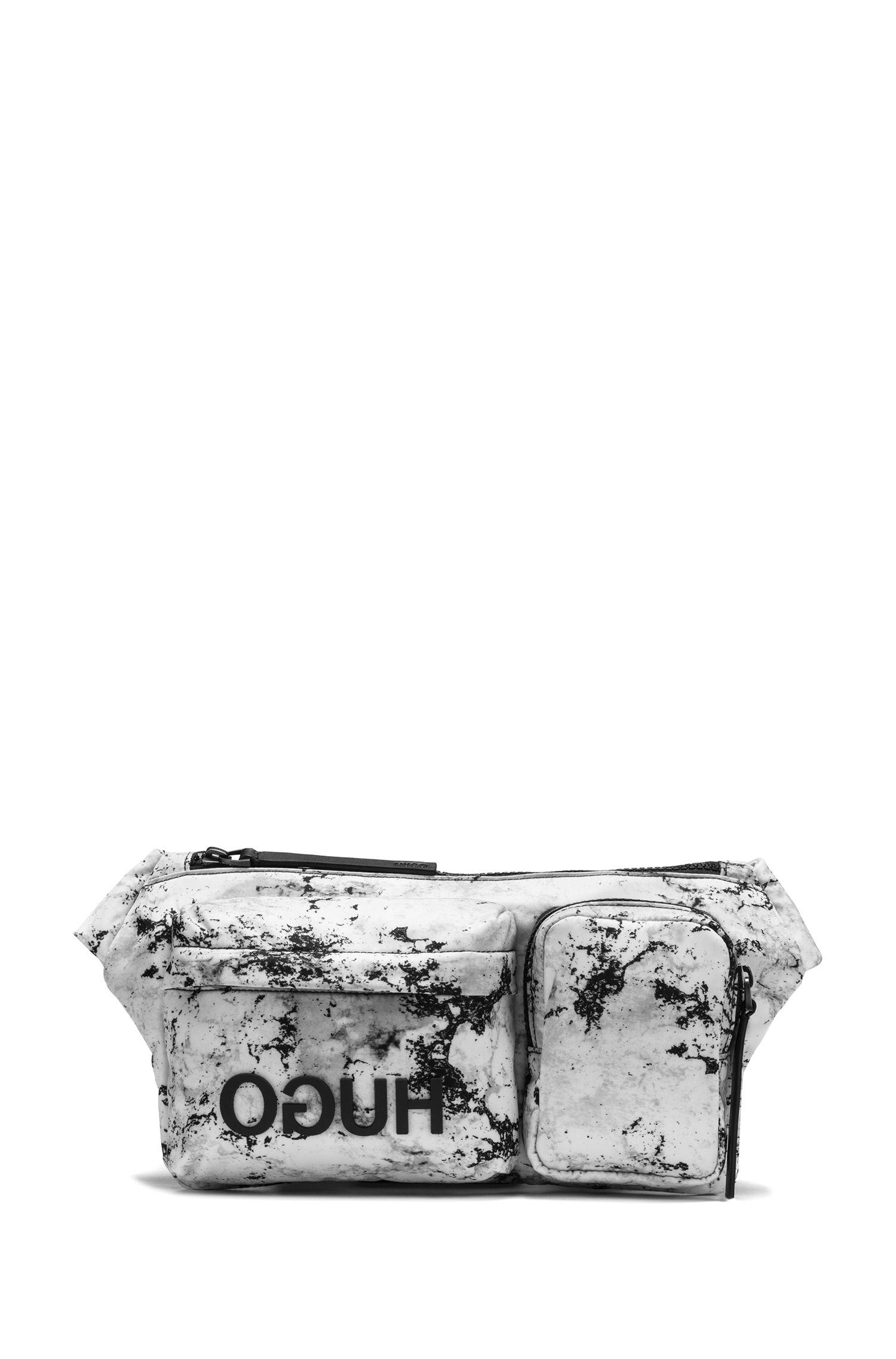 Gürteltasche aus Nylon-Gabardine mit Camouflage-Print