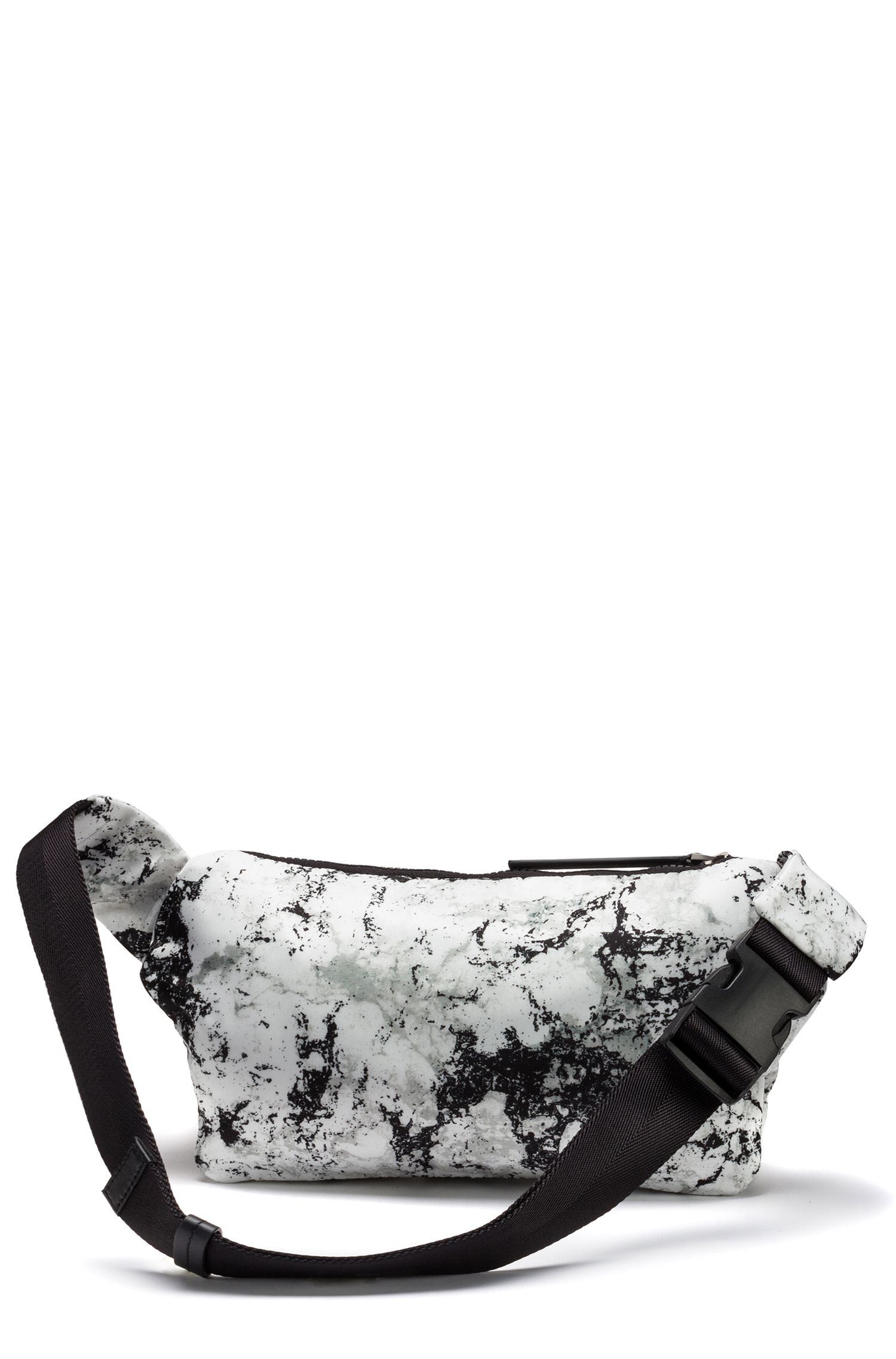 Sac ceinture en gabardine de tissu technique à imprimé camouflage neige, Fantaisie
