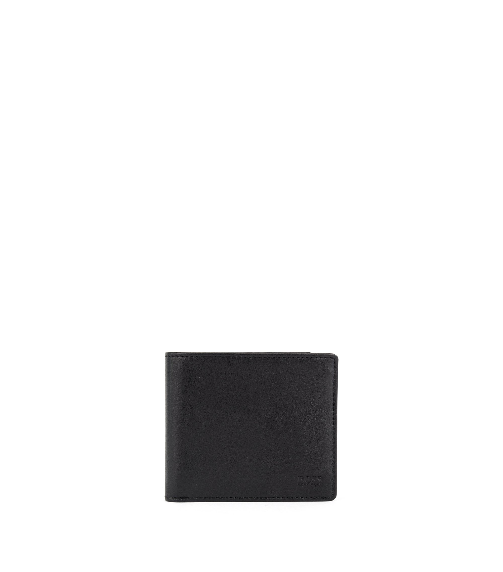 Billfold wallet in smooth nappa leather, Black