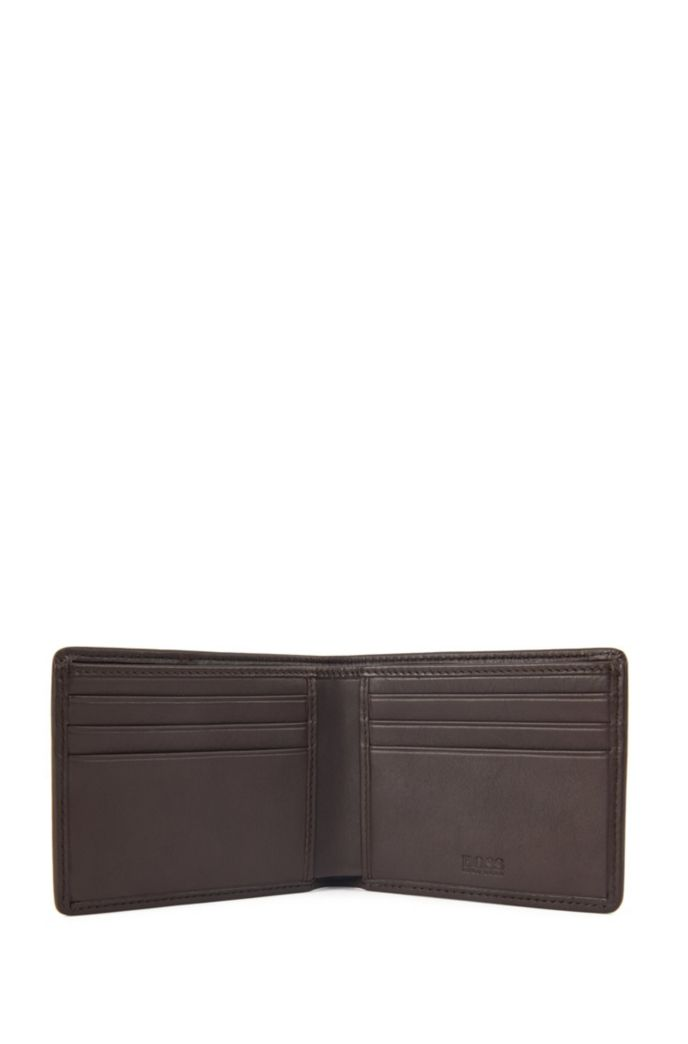 Billfold wallet in nappa leather with six card slots