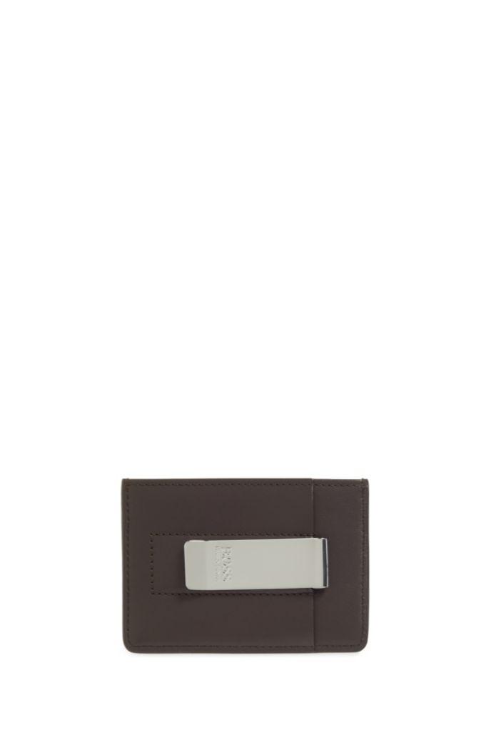 Porte-cartes en cuir avec pince à billets