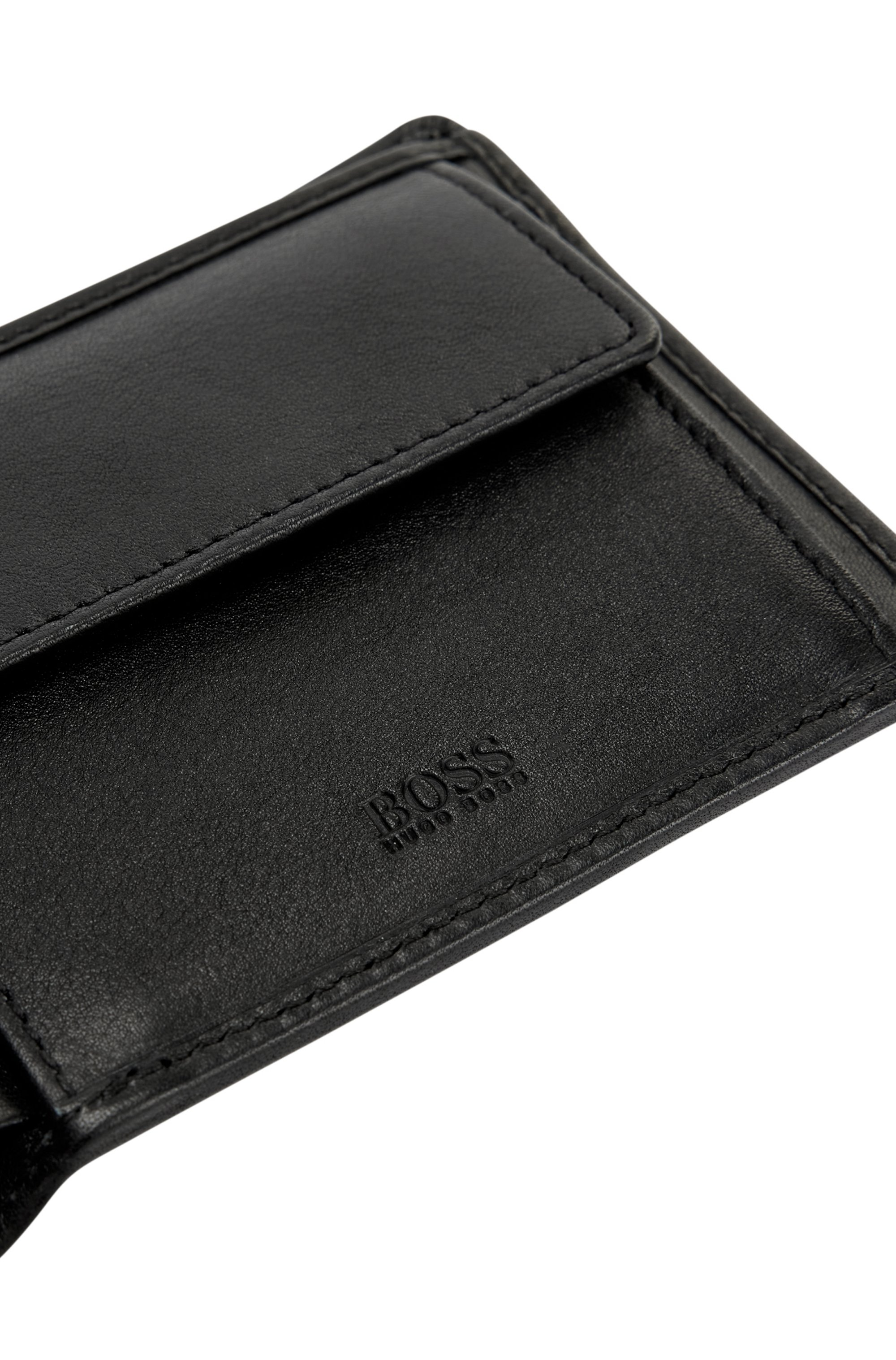 Trifold wallet in nappa leather with ID window