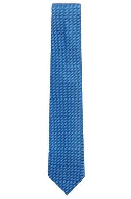 In Italien gefertigte Krawatte aus Seiden-Jacquard mit Muster, Blau eb573788aa
