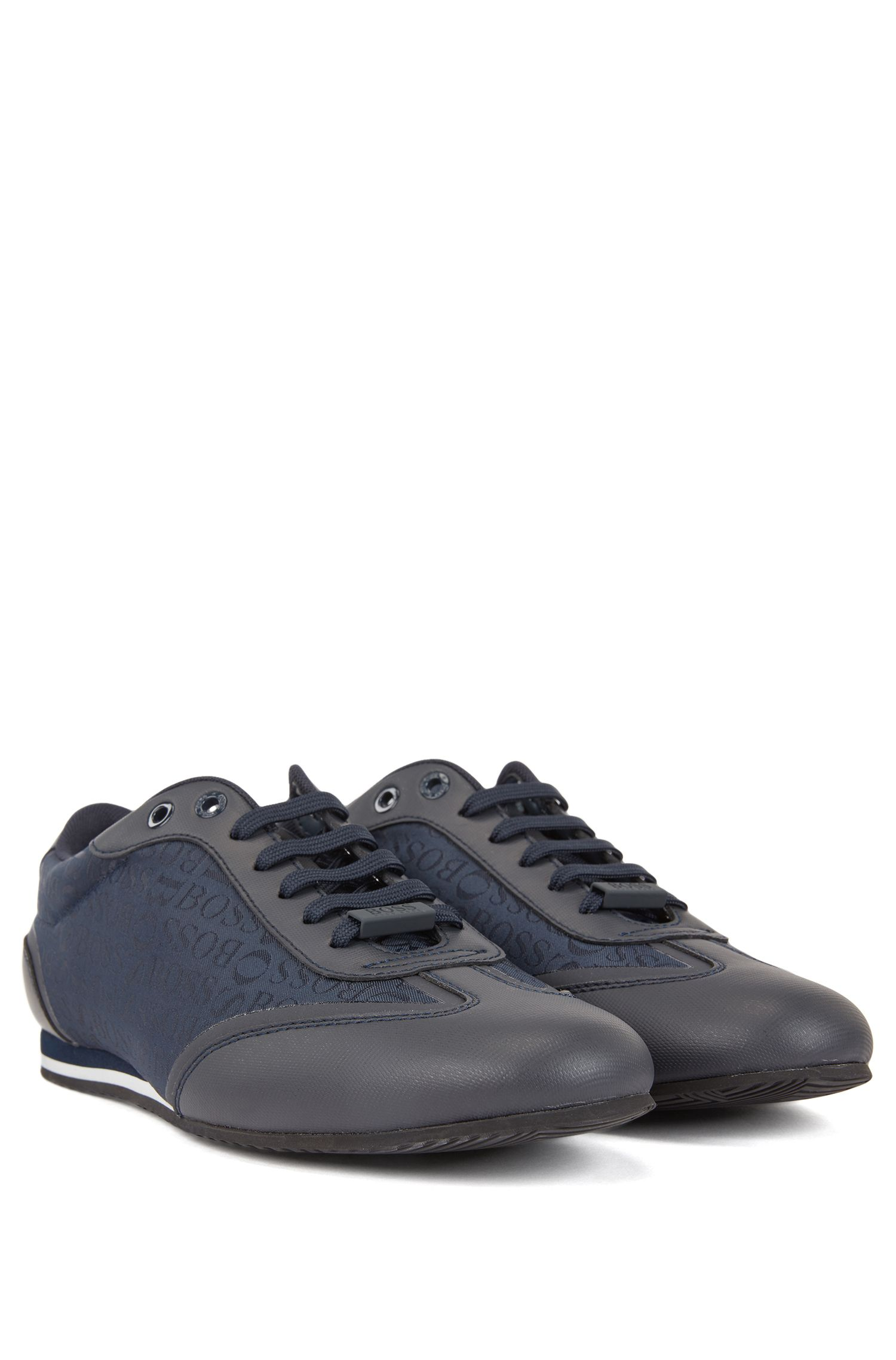 Sneakers aus Gummi und Logo-Jacquard, Dunkelblau