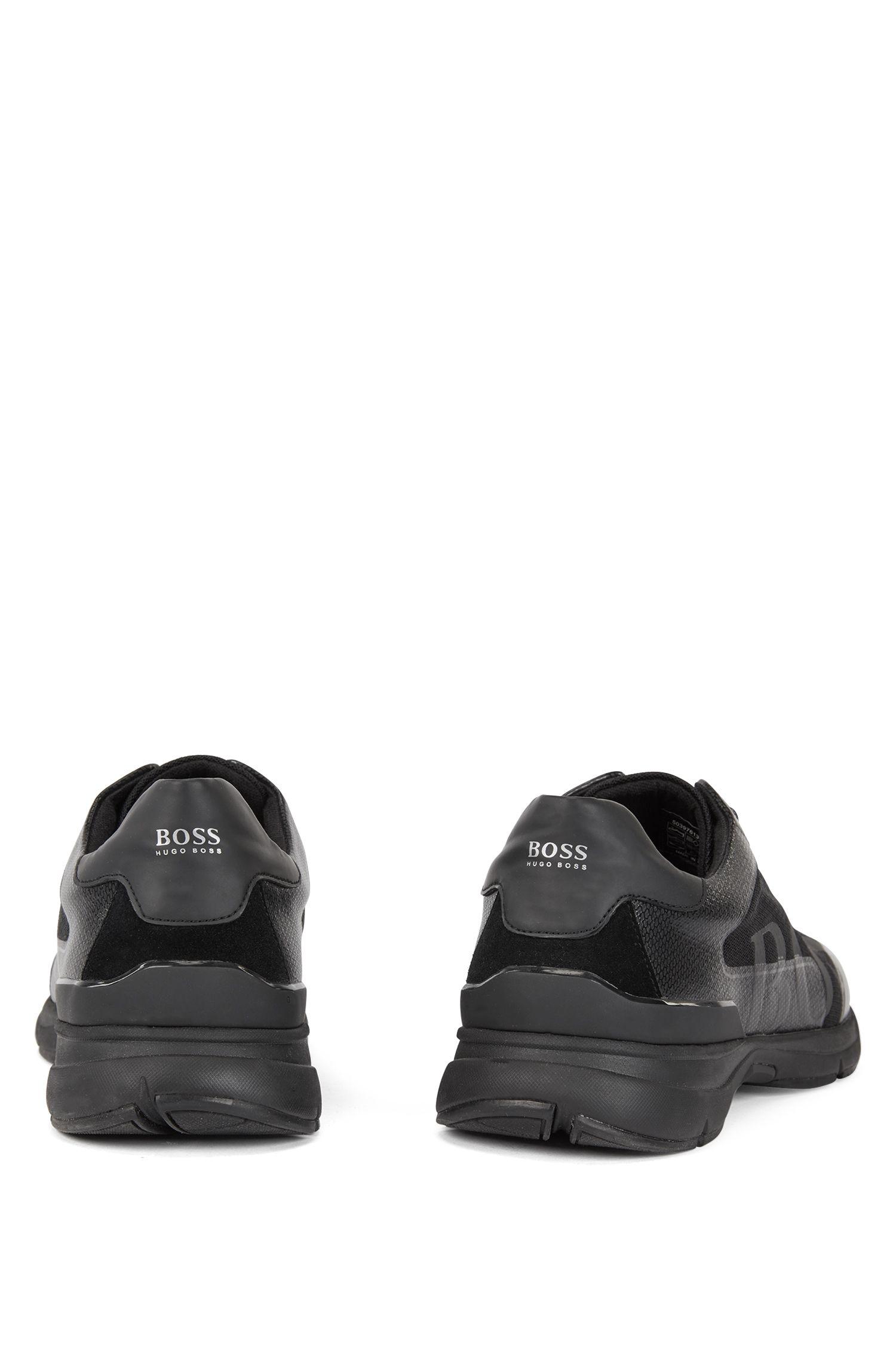 Sneakers ispirate alla corsa con fodera interna in carbone di bambù, Nero