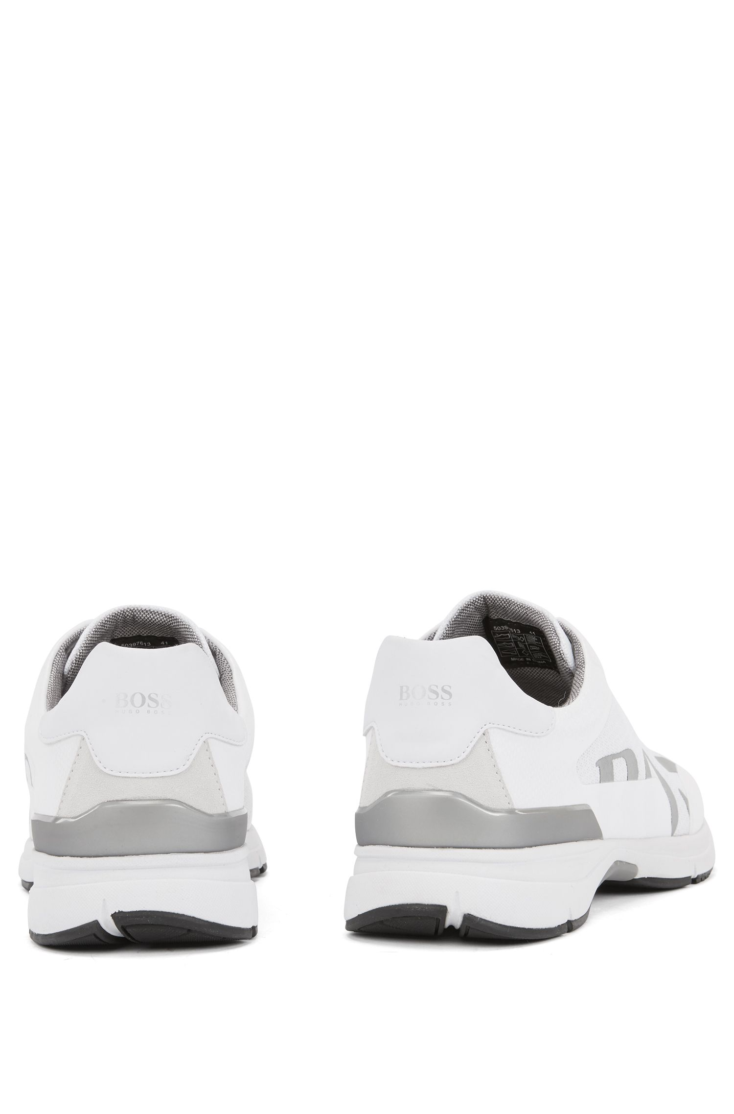 Running-inspired trainers with bamboo-charcoal lining, White