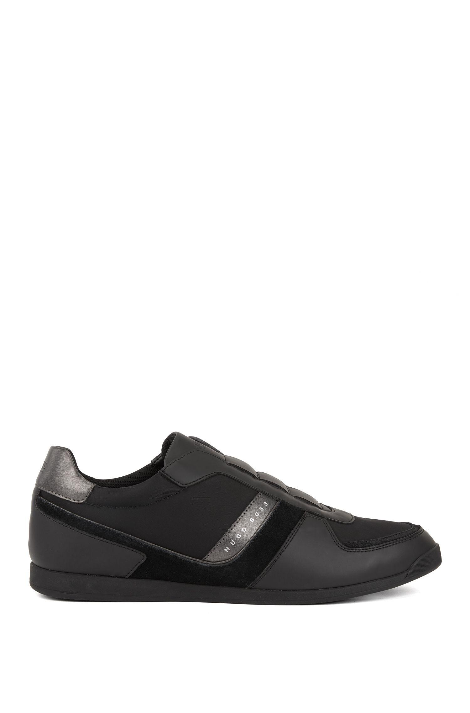 Lowtop Sneakers ohne Schnürsenkel, Schwarz