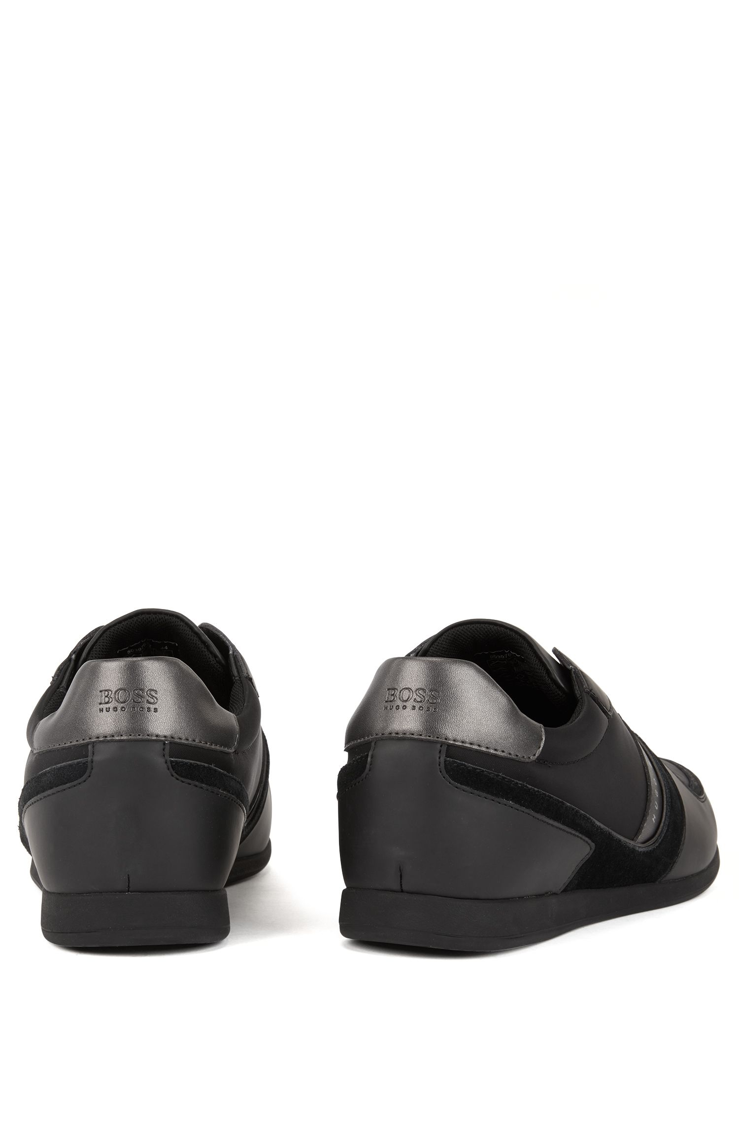 Sneakers low-top con tomaia senza stringhe, Nero