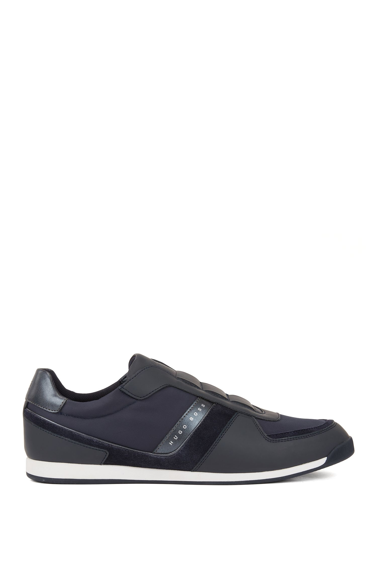 Low-top trainers with lace-free uppers, Dark Blue