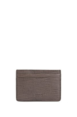 Card holders by hugo boss convenience meets style card case in printed calf leather with money clip brown colourmoves