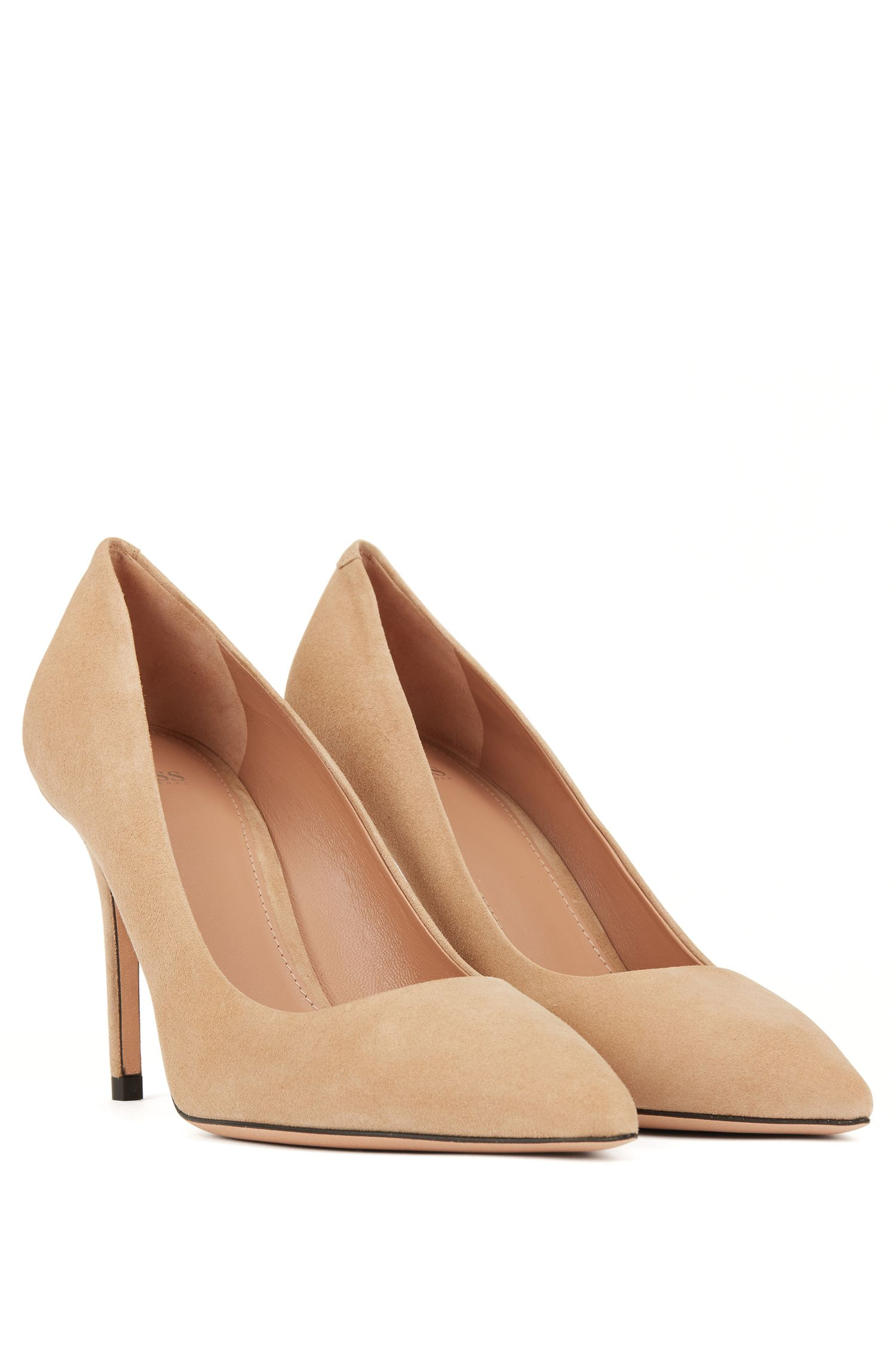 Hugo Boss - Pointed-toe court shoes in Italian suede - 2