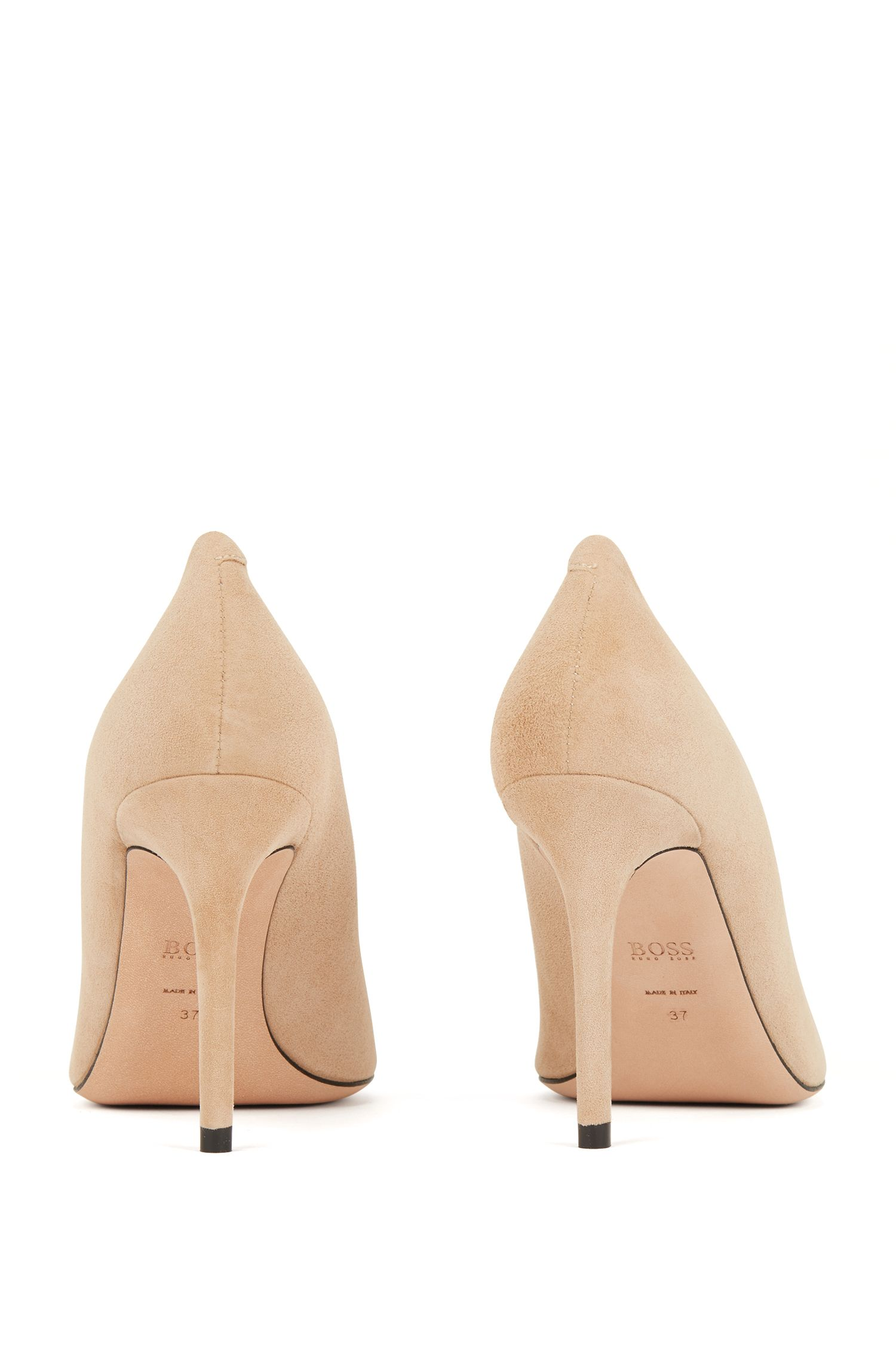 Hugo Boss - Pointed-toe court shoes in Italian suede - 6