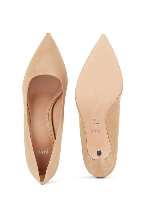 Hugo Boss - Pointed-toe court shoes in Italian suede - 5