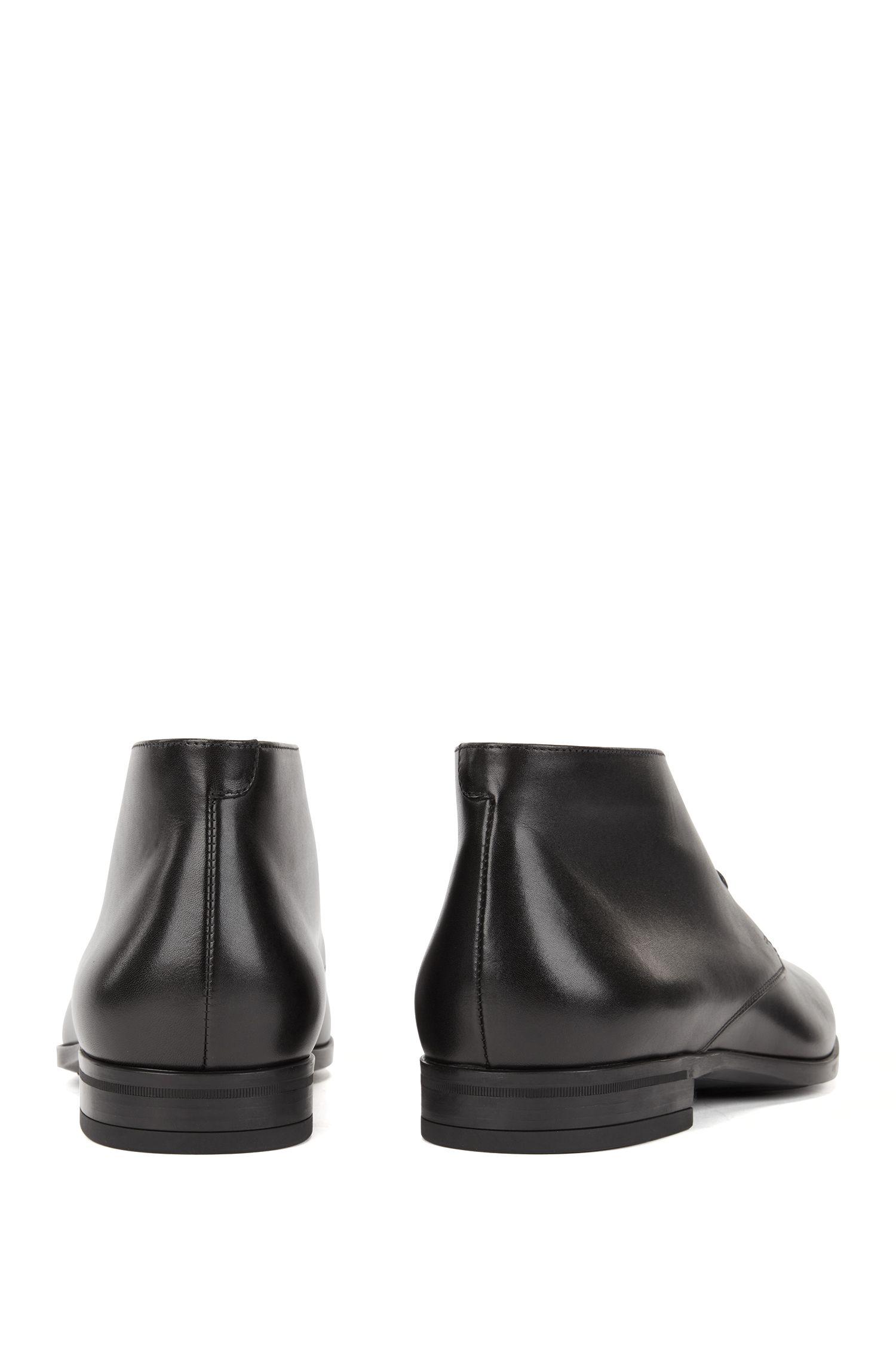 Desert boot in pelle di vitello brunita
