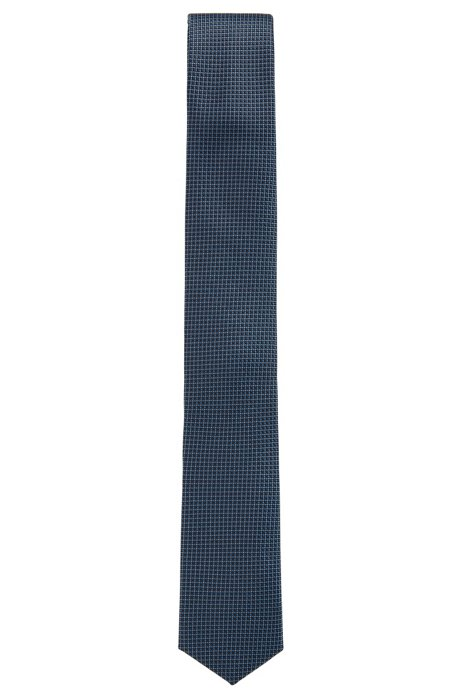 Travel Line water-repellent tie in patterned silk jacquard BOSS LrJHS