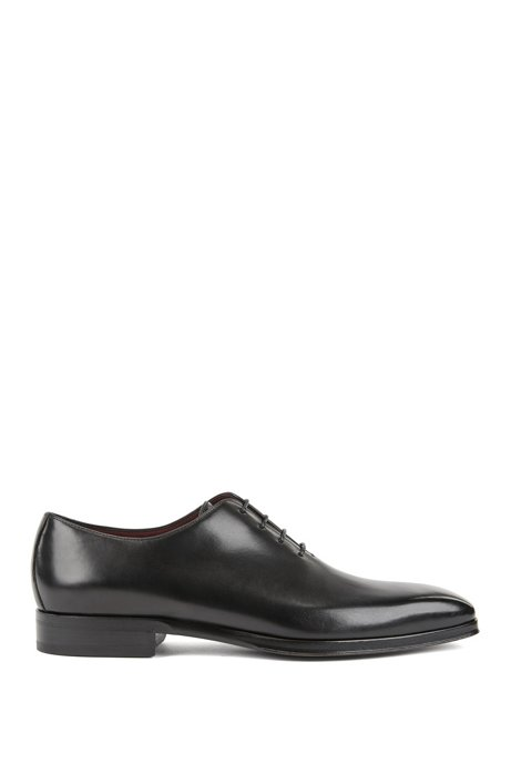 Zapatos Oxford en piel de becerro pulida, Negro